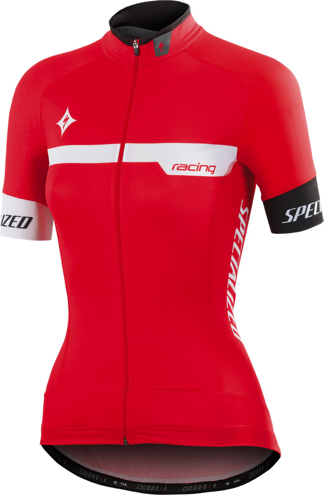 Specialized TEAM PRO WMN SS JERSEY Red/White XL - Alpha Bikes