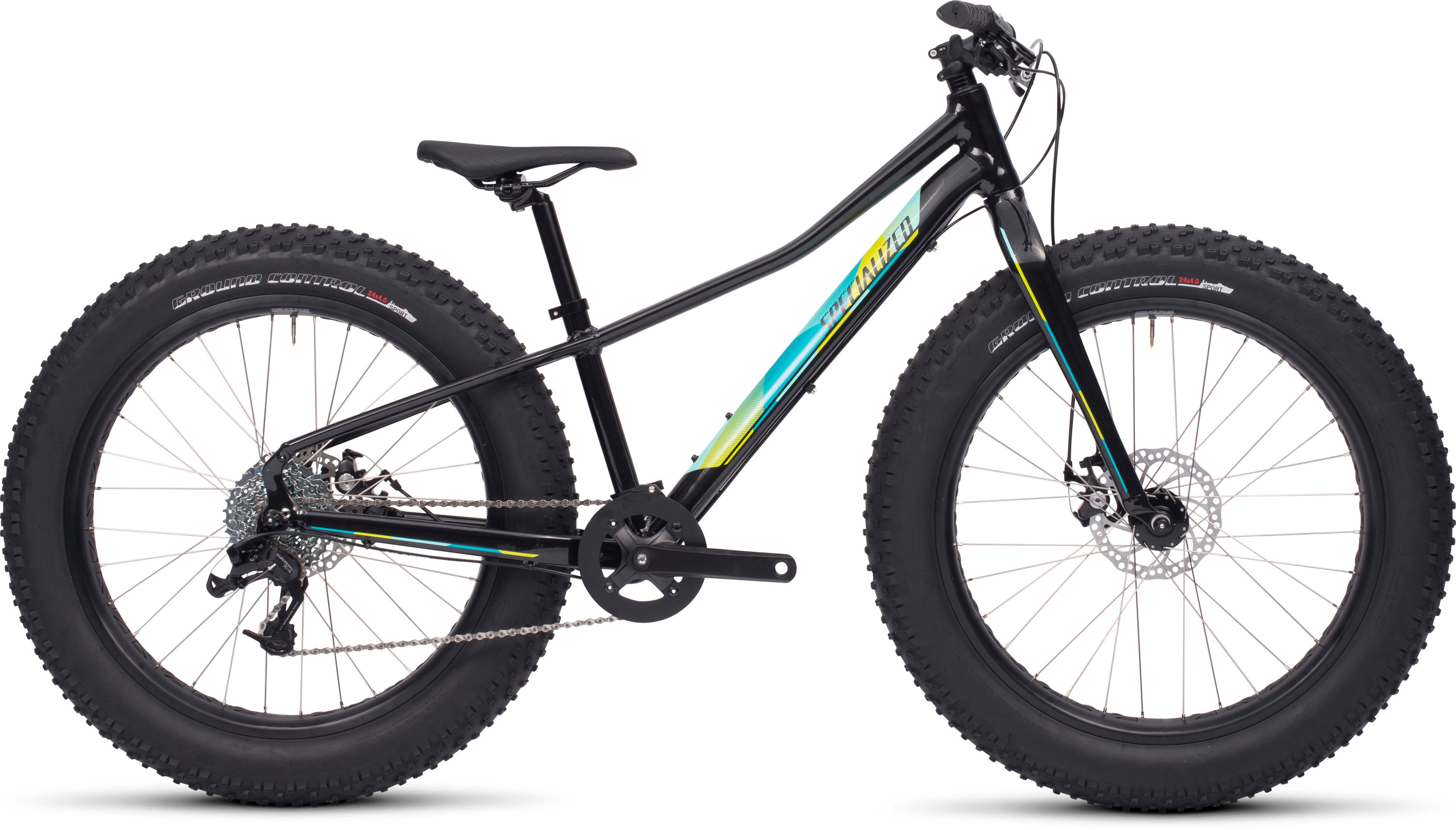 SPECIALIZED FATBOY 24 BLK/TUR/TUR/HYP GRN 12 - Bikedreams & Dustbikes