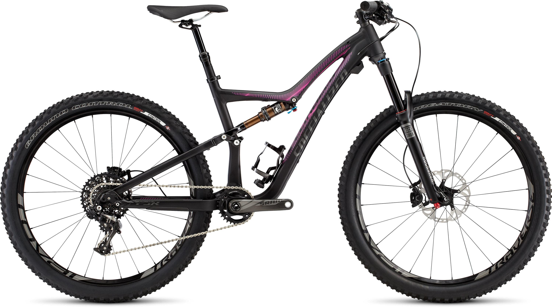 SPECIALIZED RUMOR FSR EXPERT 650B BLK/CHAR/BRTPNK L - Alpha Bikes