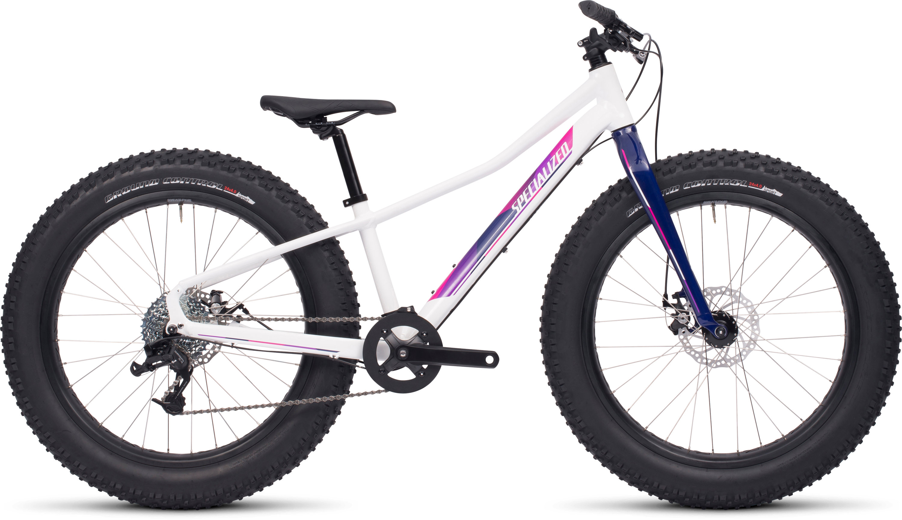 Specialized FATBOY 24 Gloss White/Pink/Deep Fuschia/Deep Indigo 12 - Alpha Bikes
