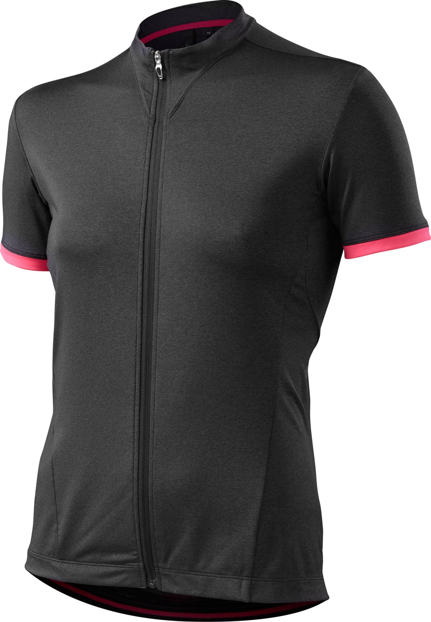 Specialized Women´s RBX Comp Jersey Carbon Heather/Neon Pink Medium - Alpha Bikes