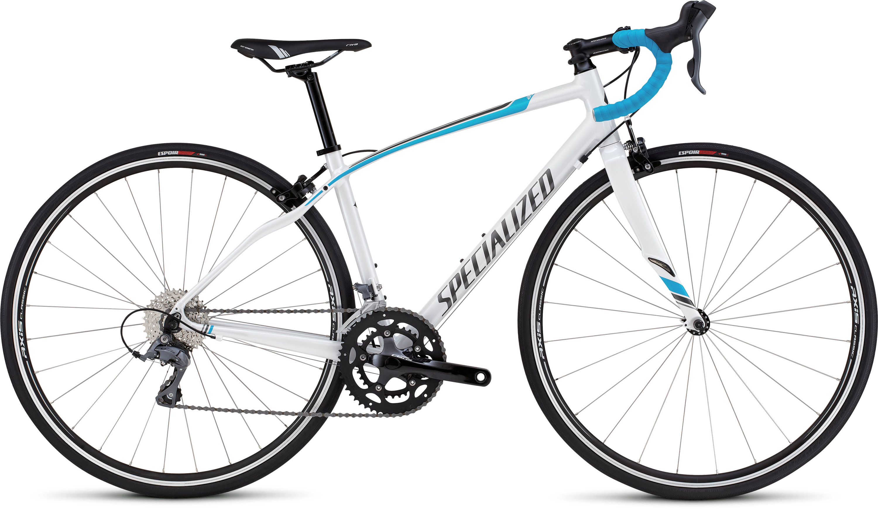 SPECIALIZED DOLCE METWHT/PRLCYAN/SIL 44 - Bikedreams & Dustbikes