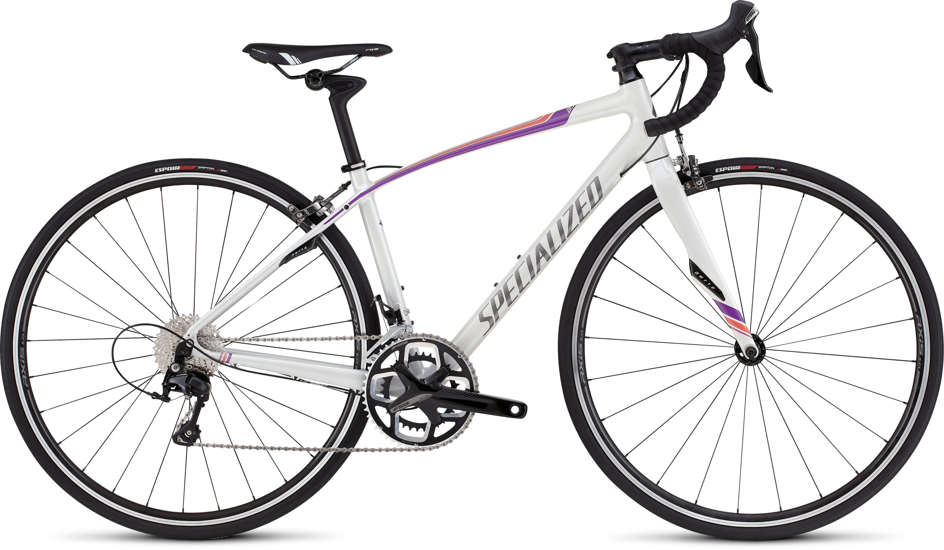 SPECIALIZED DOLCE COMP DRTYWHT/DPPRLFUS/PRLCRL 48 - Alpha Bikes