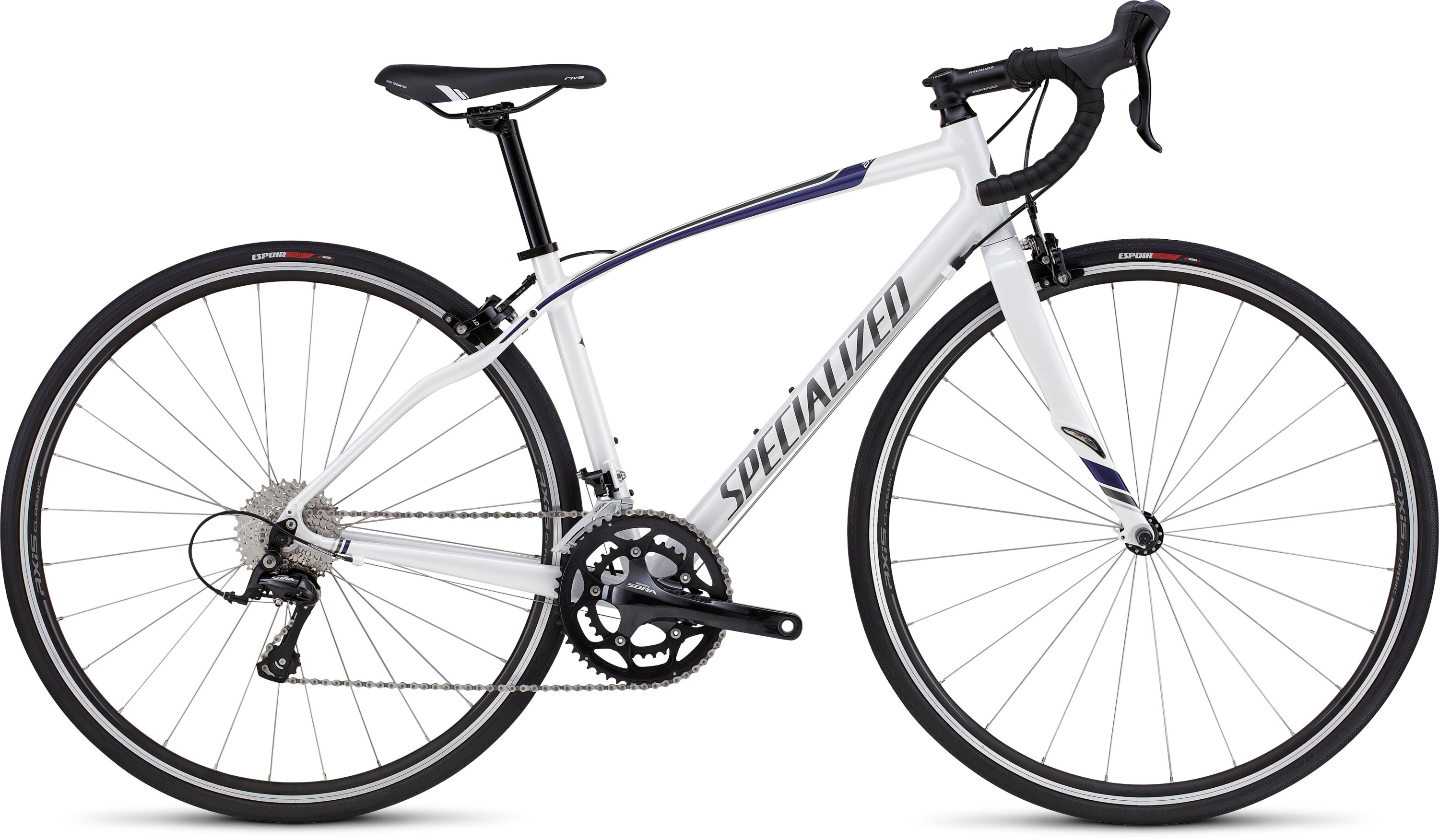 SPECIALIZED DOLCE SPORT WHT/NDGO/CHAR/SIL 44 - Bikedreams & Dustbikes