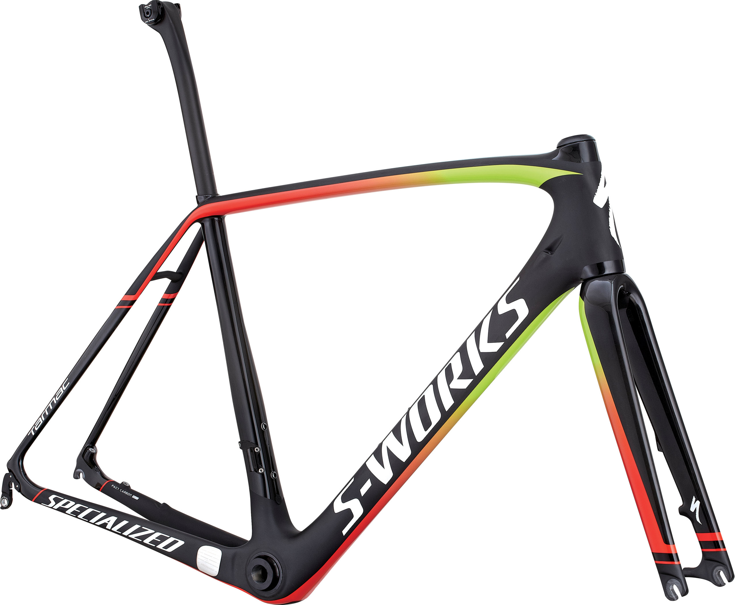 SPECIALIZED SW TARMAC DISC FRMSET CARB/HYP/RKTRED 49 - Bikedreams & Dustbikes