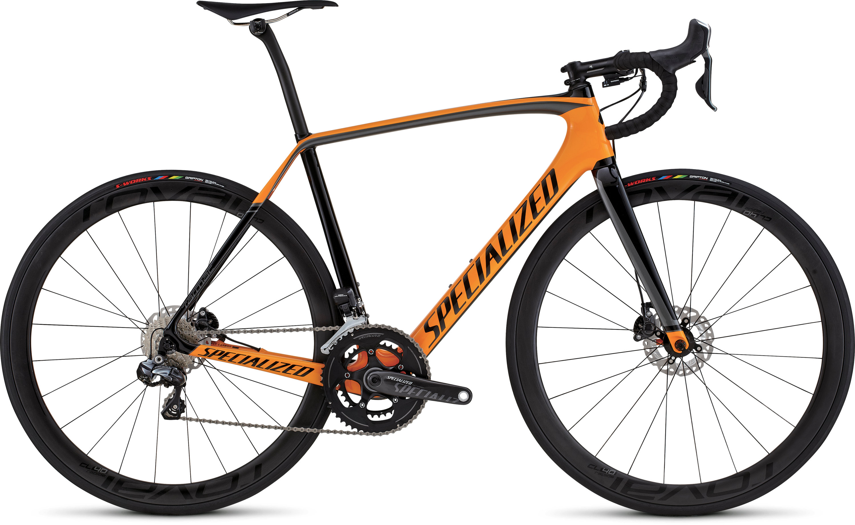 SPECIALIZED TARMAC PRO DISC RACE UDI2 GLDORG/TARBLK/CHAR 49 - Bikedreams & Dustbikes