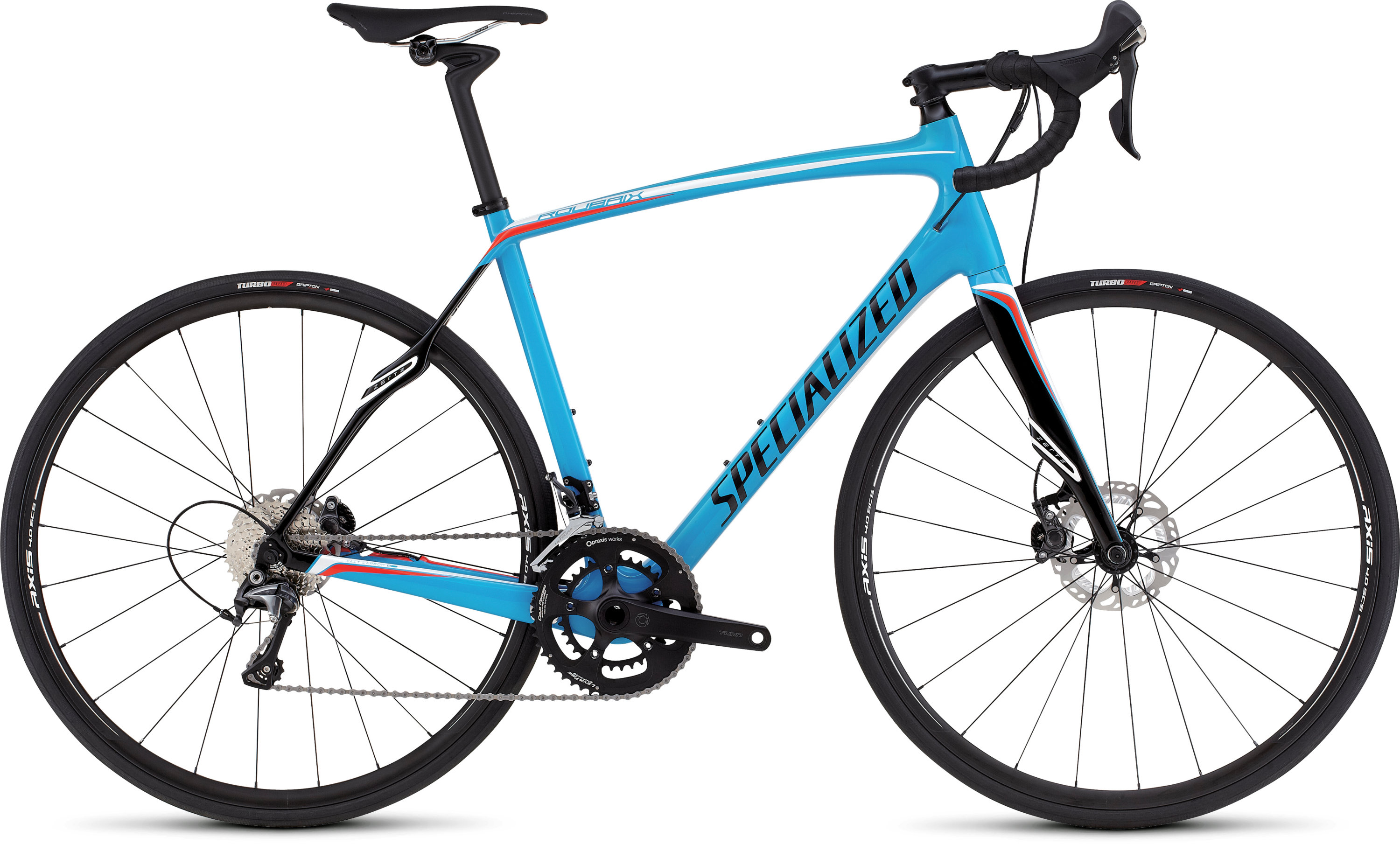 SPECIALIZED ROUBAIX SL4 COMP DISC CYAN/WHT/RKTRED 49 - Bikedreams & Dustbikes