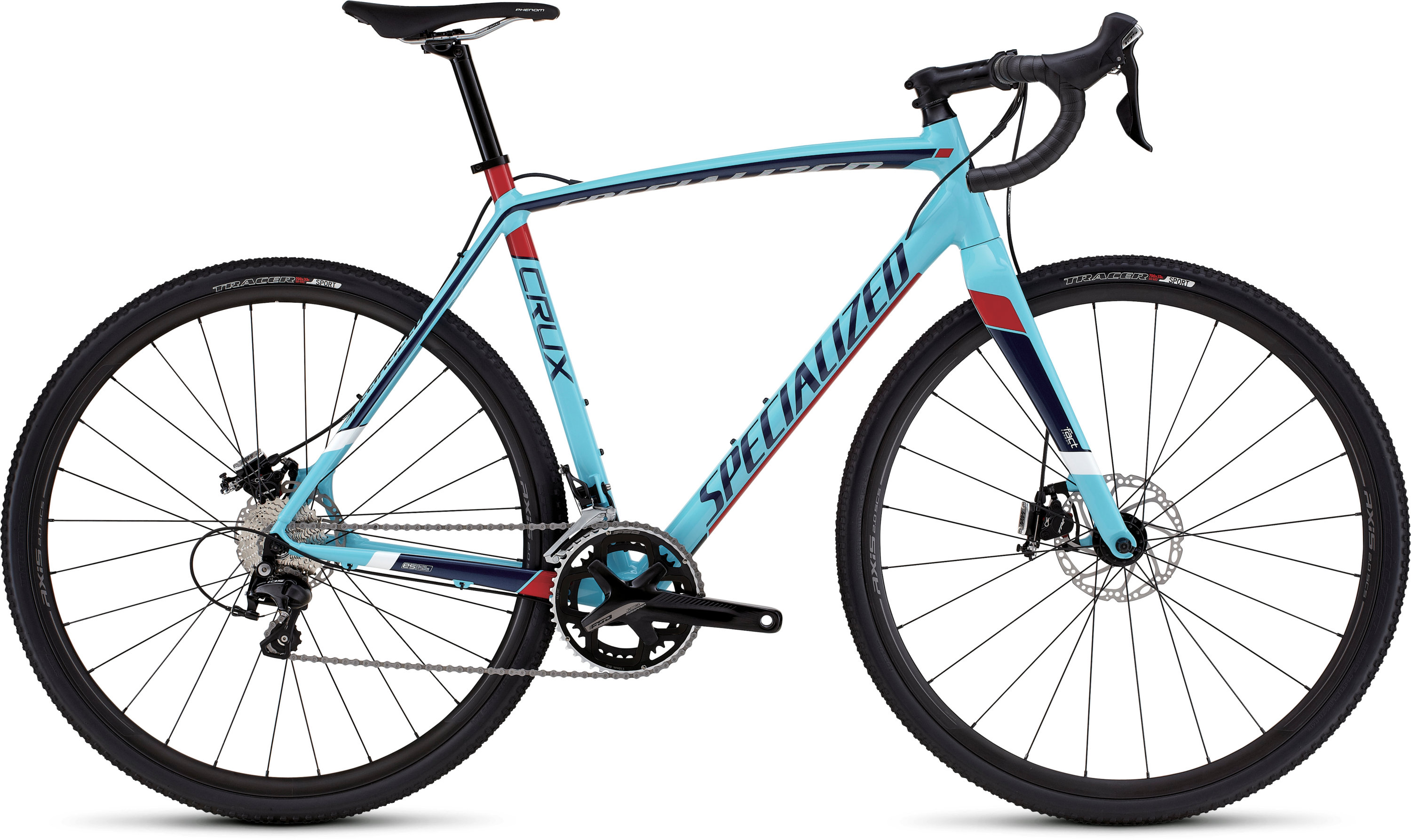 SPECIALIZED CRUX SPORT E5 LTBLU/NVY/RED/BLK/WHT 46 - schneider-sports
