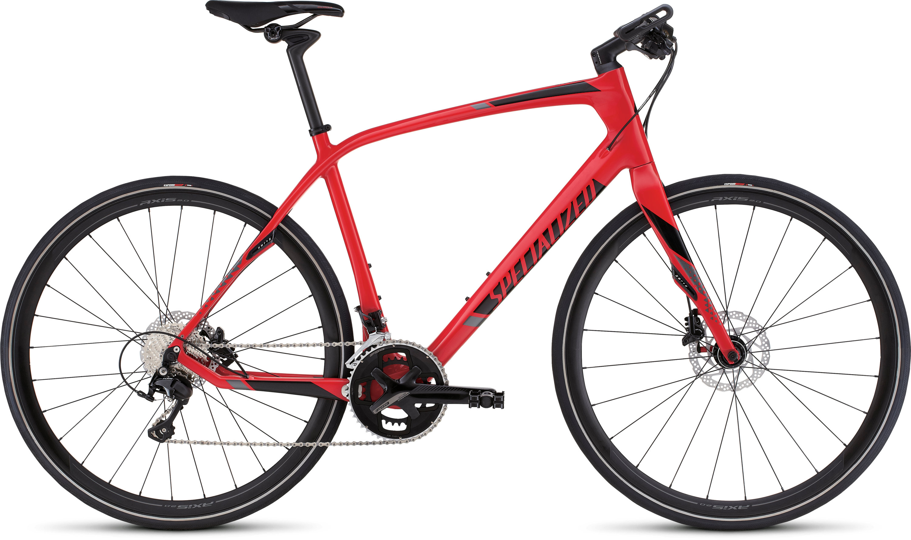 SPECIALIZED SIRRUS EXPERT CARBON DISC RED/BLK/CHAR S - Bikedreams & Dustbikes