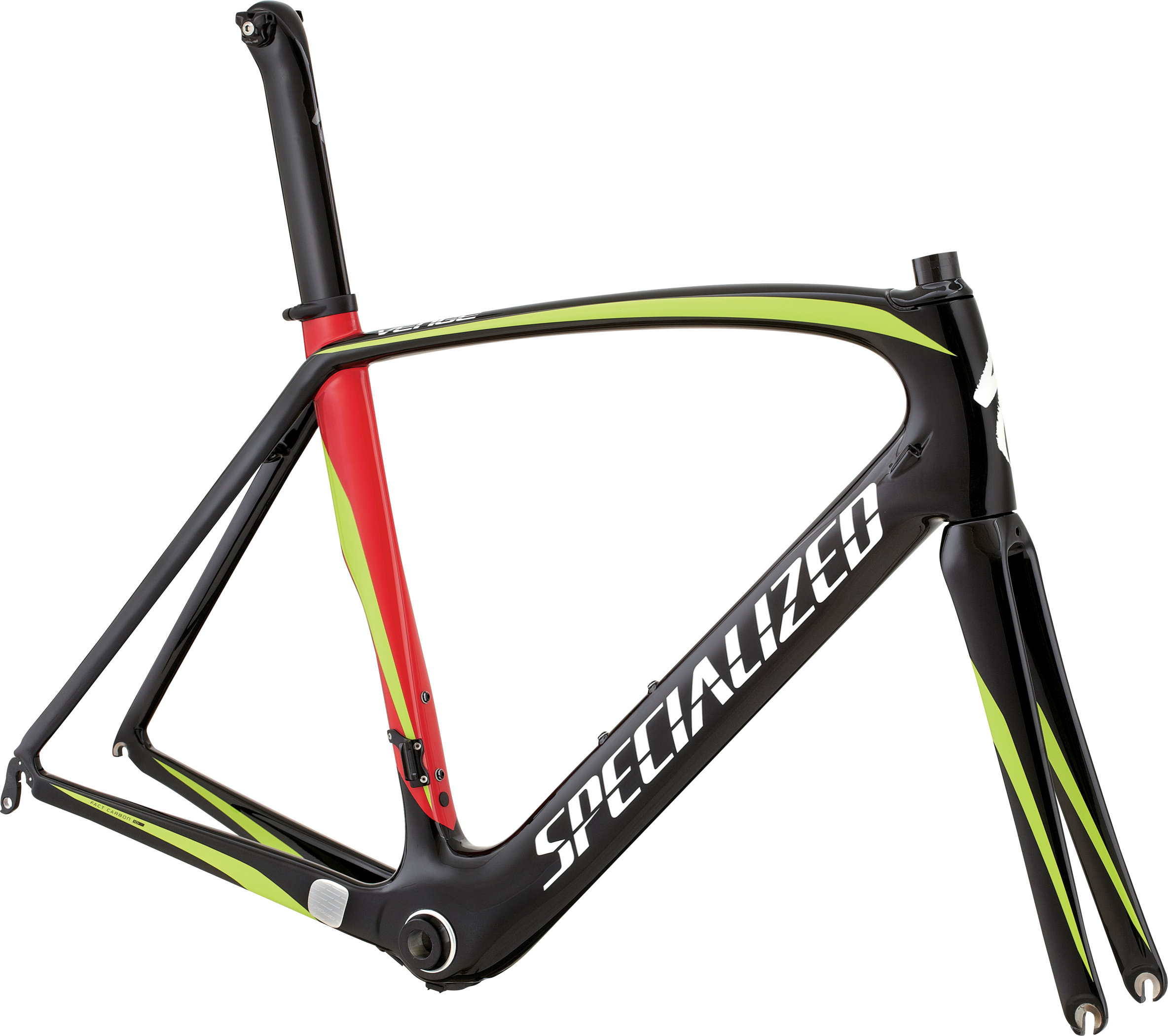 SPECIALIZED VENGE FRMSET TARBLK/HYP/RED 52 - SPECIALIZED VENGE FRMSET TARBLK/HYP/RED 52