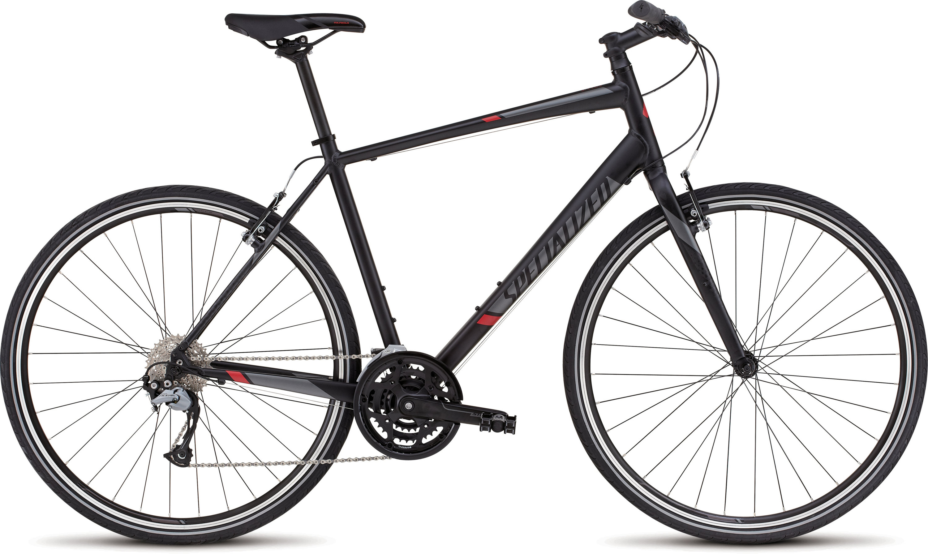 SPECIALIZED SIRRUS SPORT BLK/BLK/RED XS - Bikedreams & Dustbikes