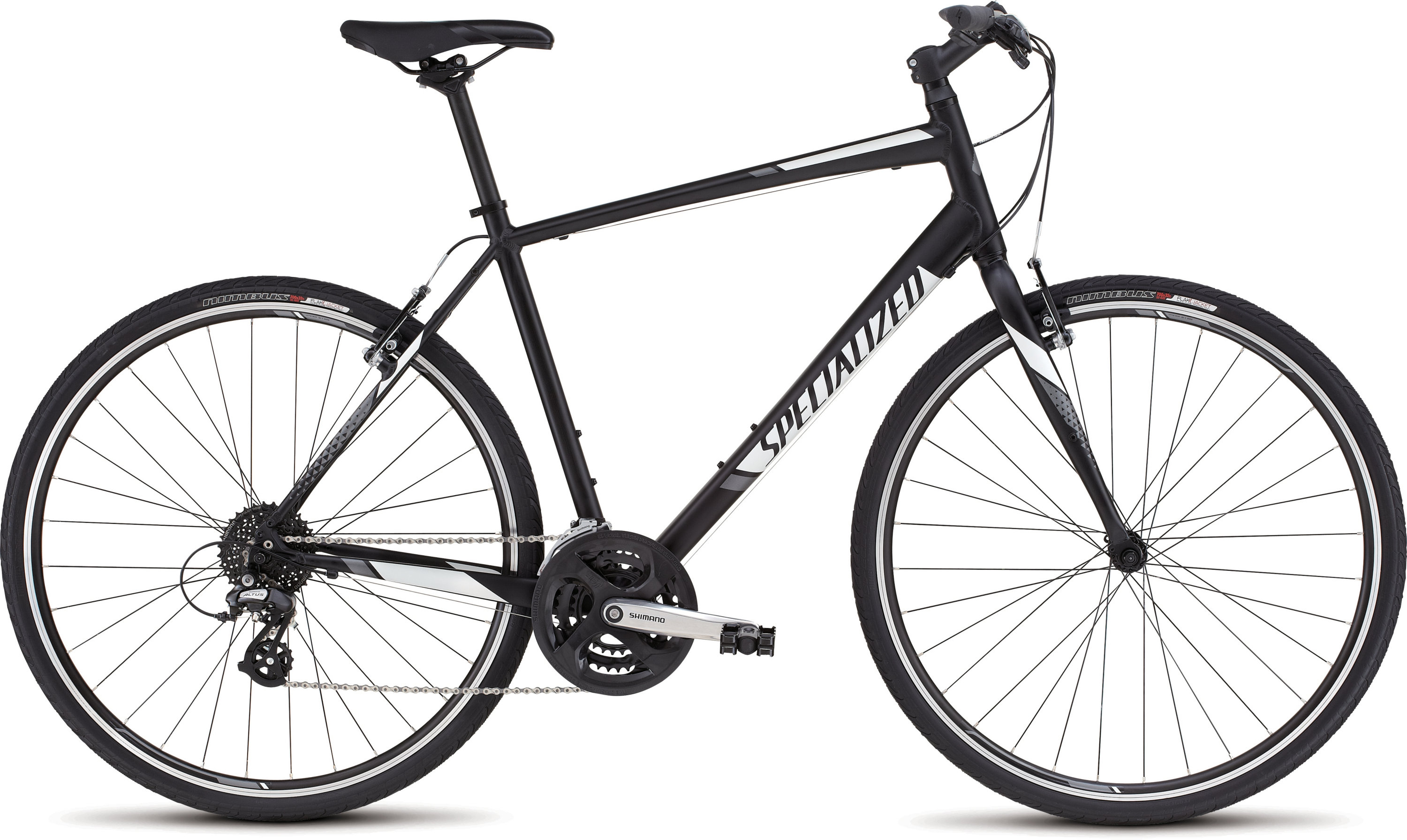 SPECIALIZED SIRRUS BLK/WHT/CHAR L - Bikedreams & Dustbikes