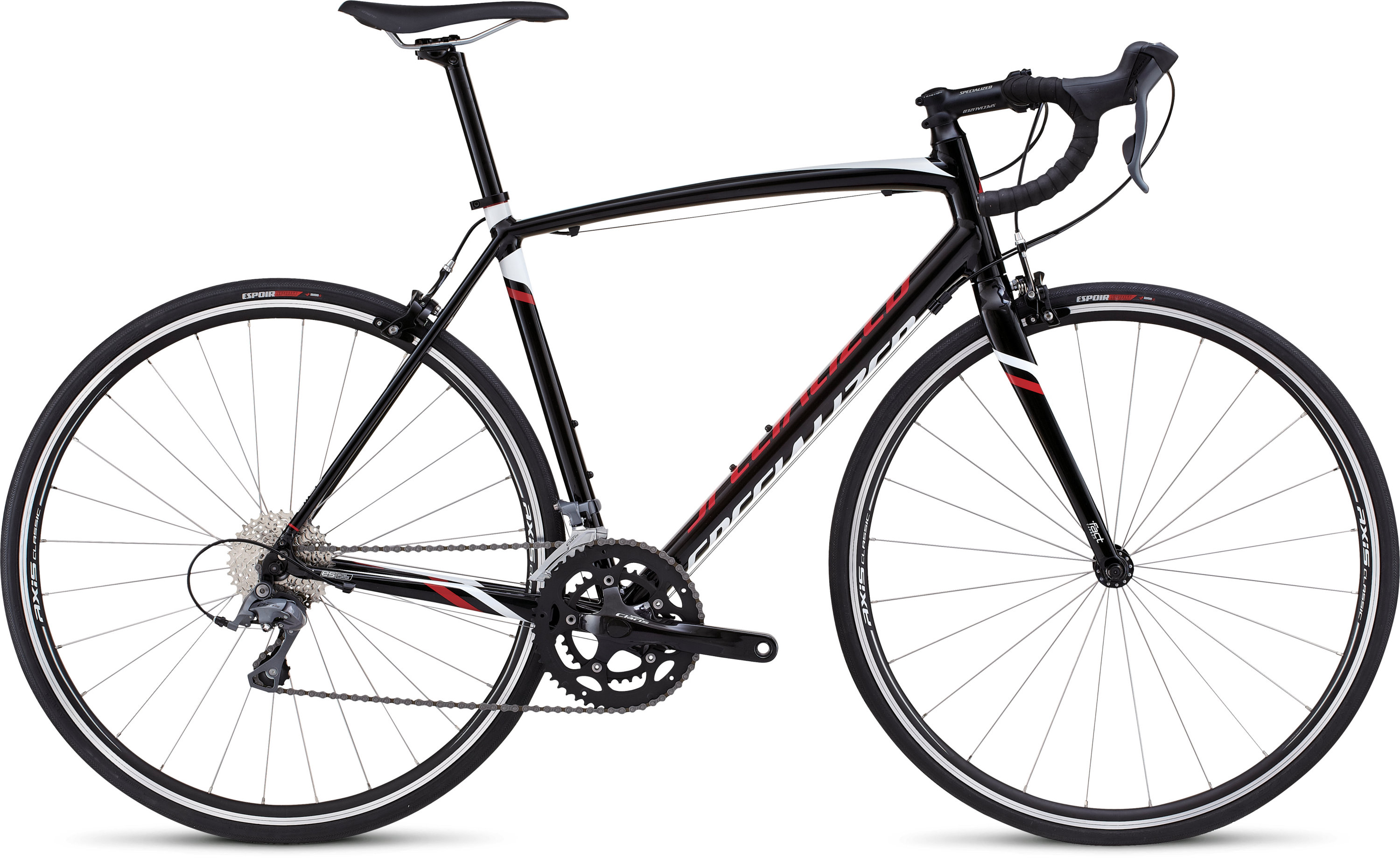 SPECIALIZED ALLEZ TARBLK/WHT/RED 52 - SPECIALIZED ALLEZ TARBLK/WHT/RED 52
