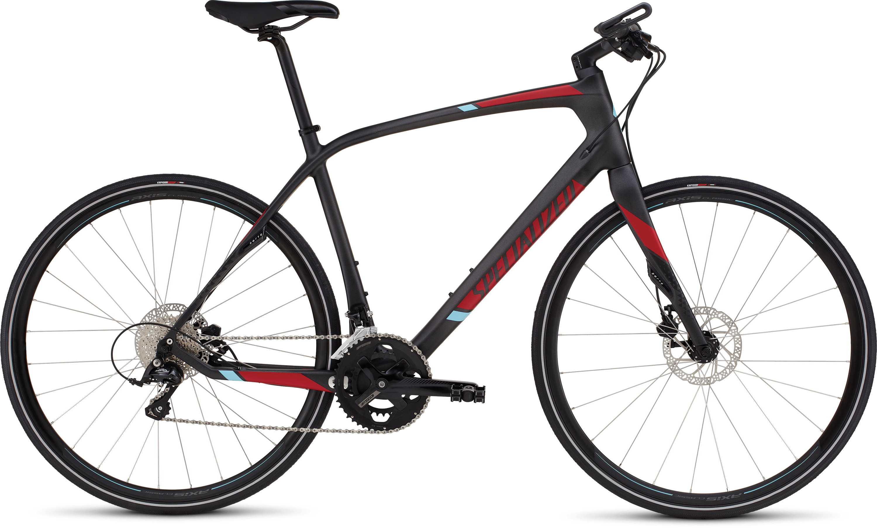 SPECIALIZED SIRRUS ELITE CARBON DISC SILCARBTNT/CNDYRED/LTBLU S - Bikedreams & Dustbikes