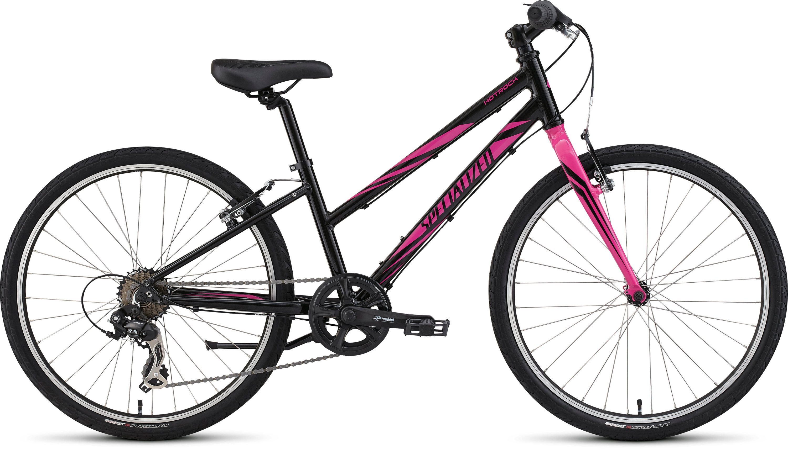 SPECIALIZED HTRK 24 7 SPD STREET GIRL INT BLK/PNK 11 - Pulsschlag Bike+Sport