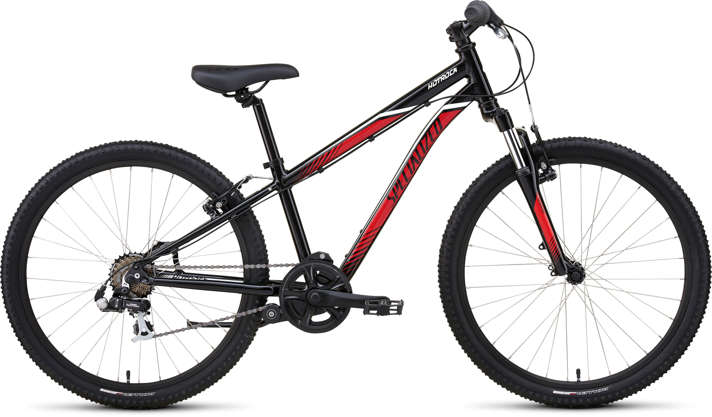 Specialized Hotrock 24 7-Speed Boys Black/Red/White - Pulsschlag Bike+Sport