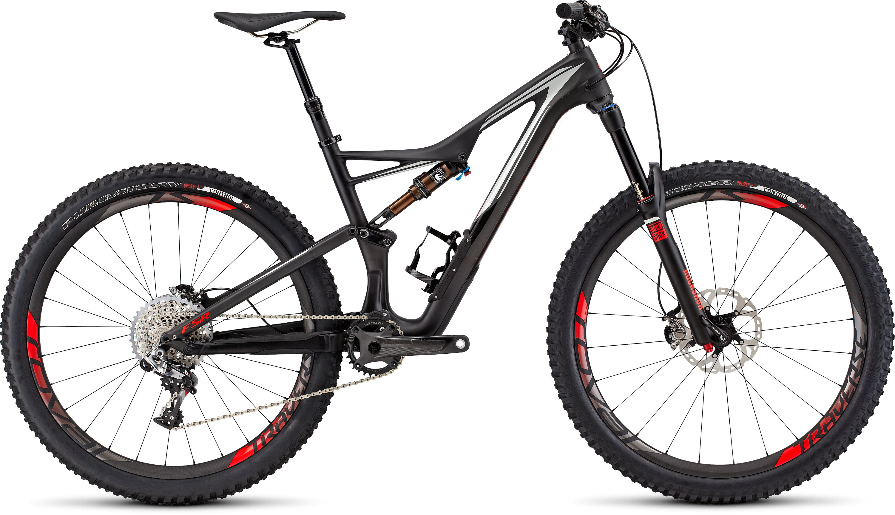 SPECIALIZED SW SJ FSR CARBON 650B CARB/DRTY WHT/RKTRED S - Bikedreams & Dustbikes