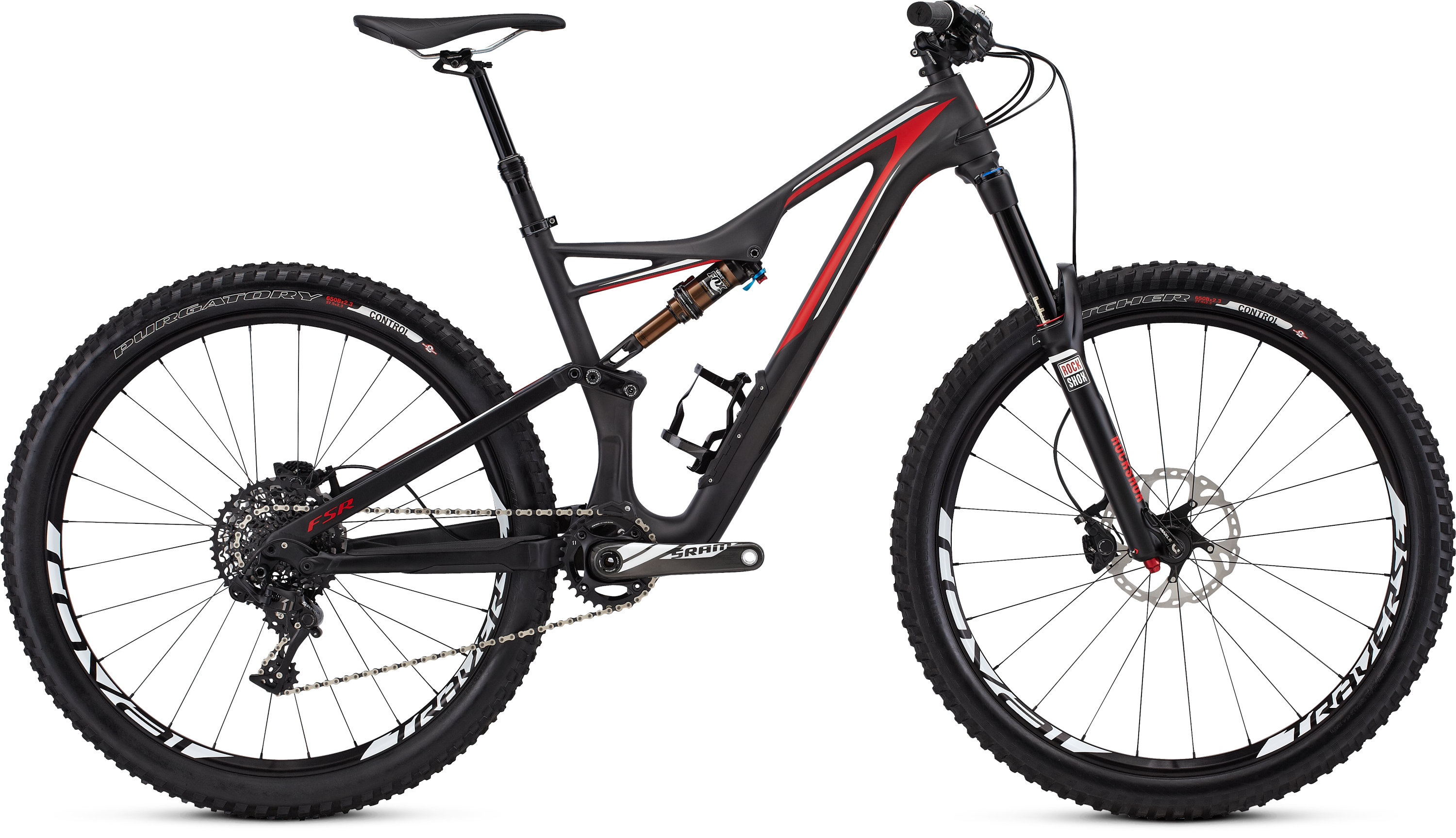 SPECIALIZED SJ FSR EXPERT CARBON 650B CARB/RED/WHT S - schneider-sports