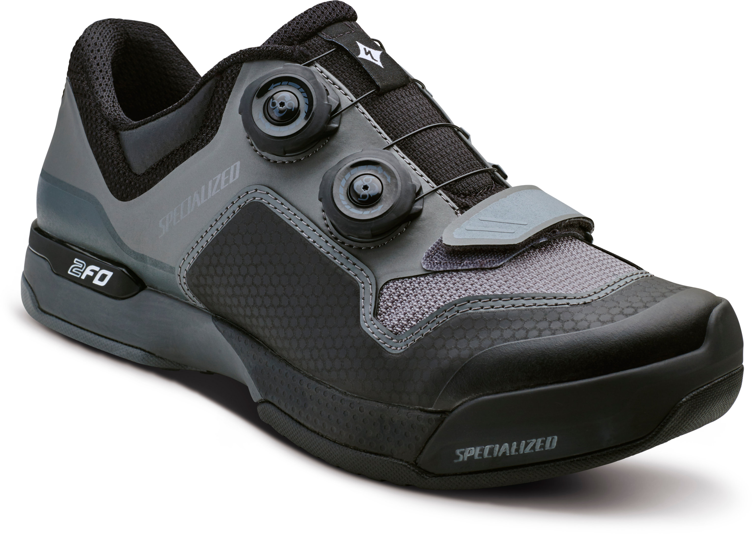 SPECIALIZED 2FO CLIPLITE MTB SHOE WMN BLK/DKGRY 36/5.75 - Bike Zone