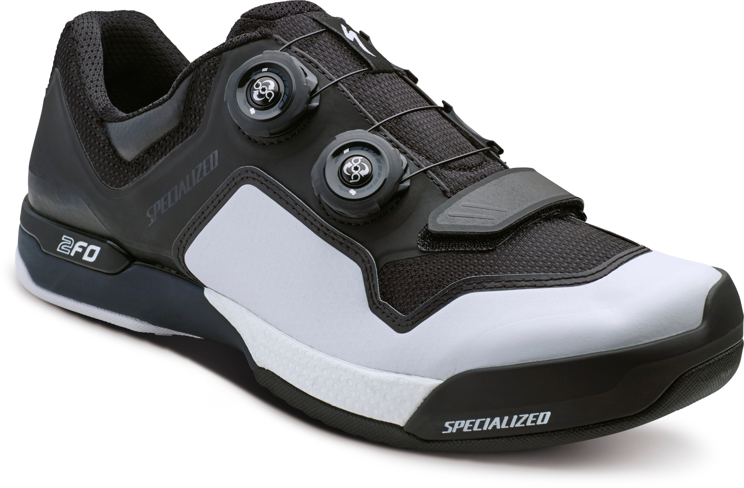 SPECIALIZED 2FO CLIPLITE MTB SHOE BLK/WHT 39/6.5 - Bikedreams & Dustbikes