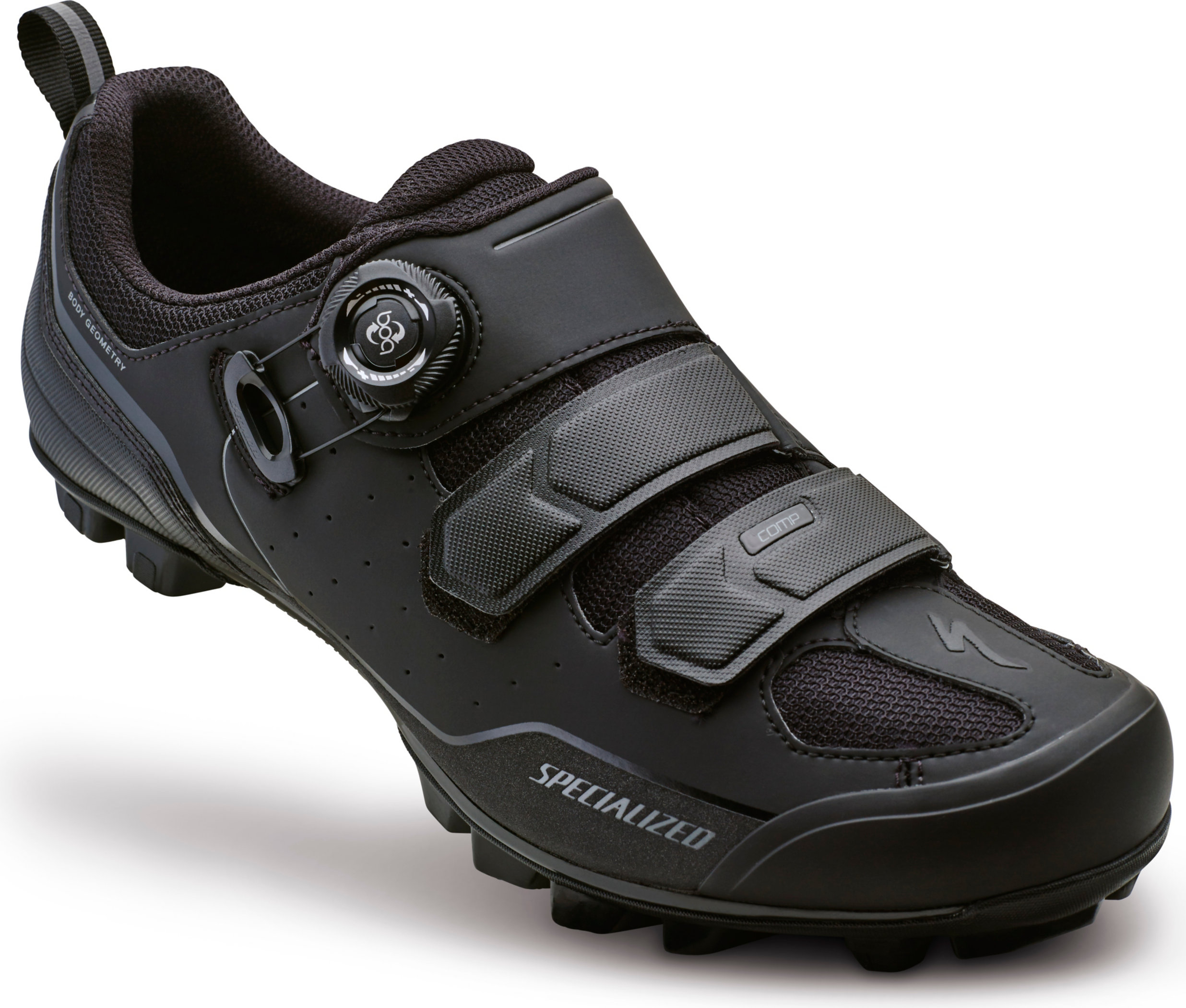 SPECIALIZED COMP MTB SHOE BLK/DKGRY 38/5.75 - Alpha Bikes