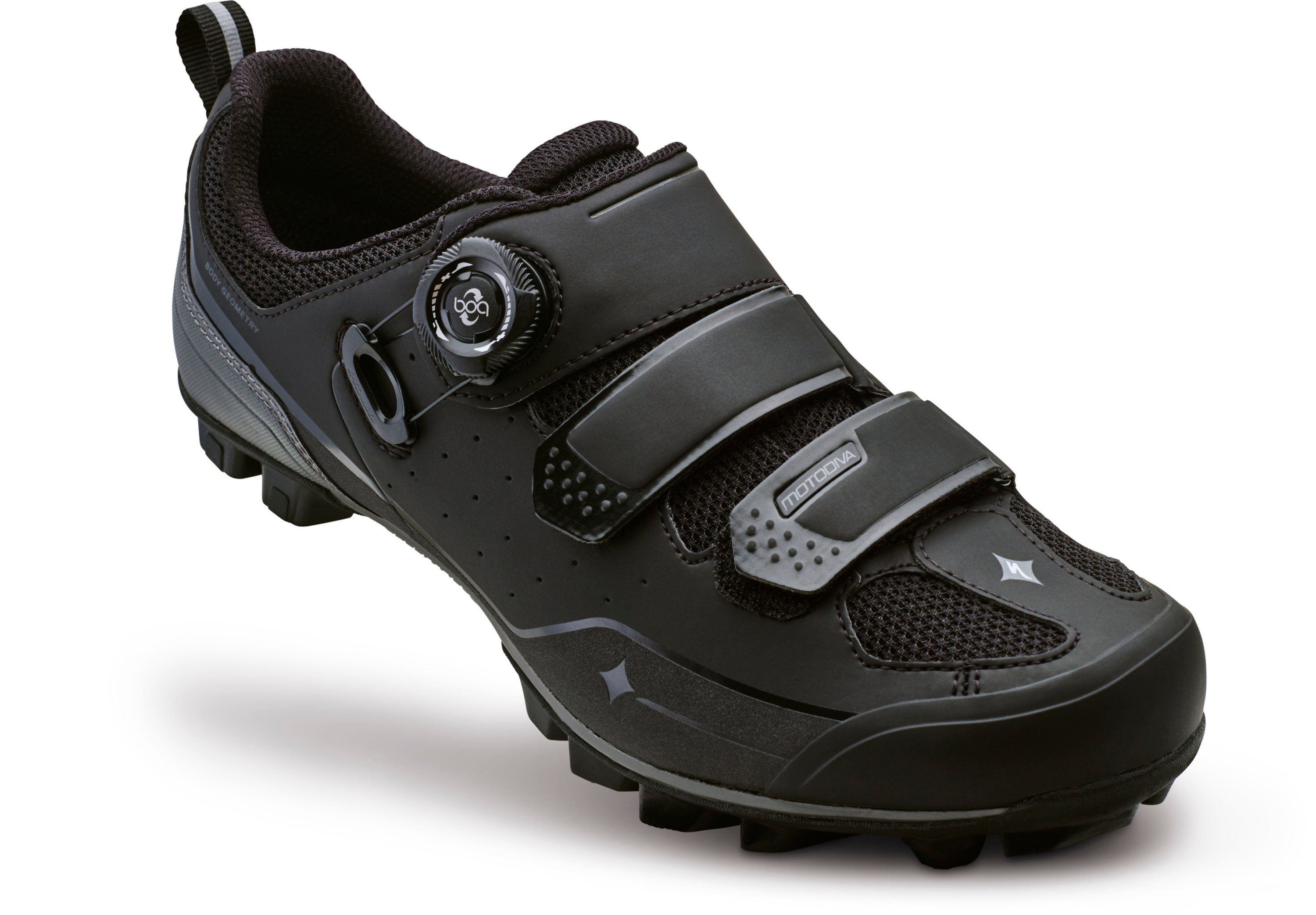 SPECIALIZED MOTODIVA MTB SHOE WMN BLK/DKGRY 36/5.75 - Alpha Bikes