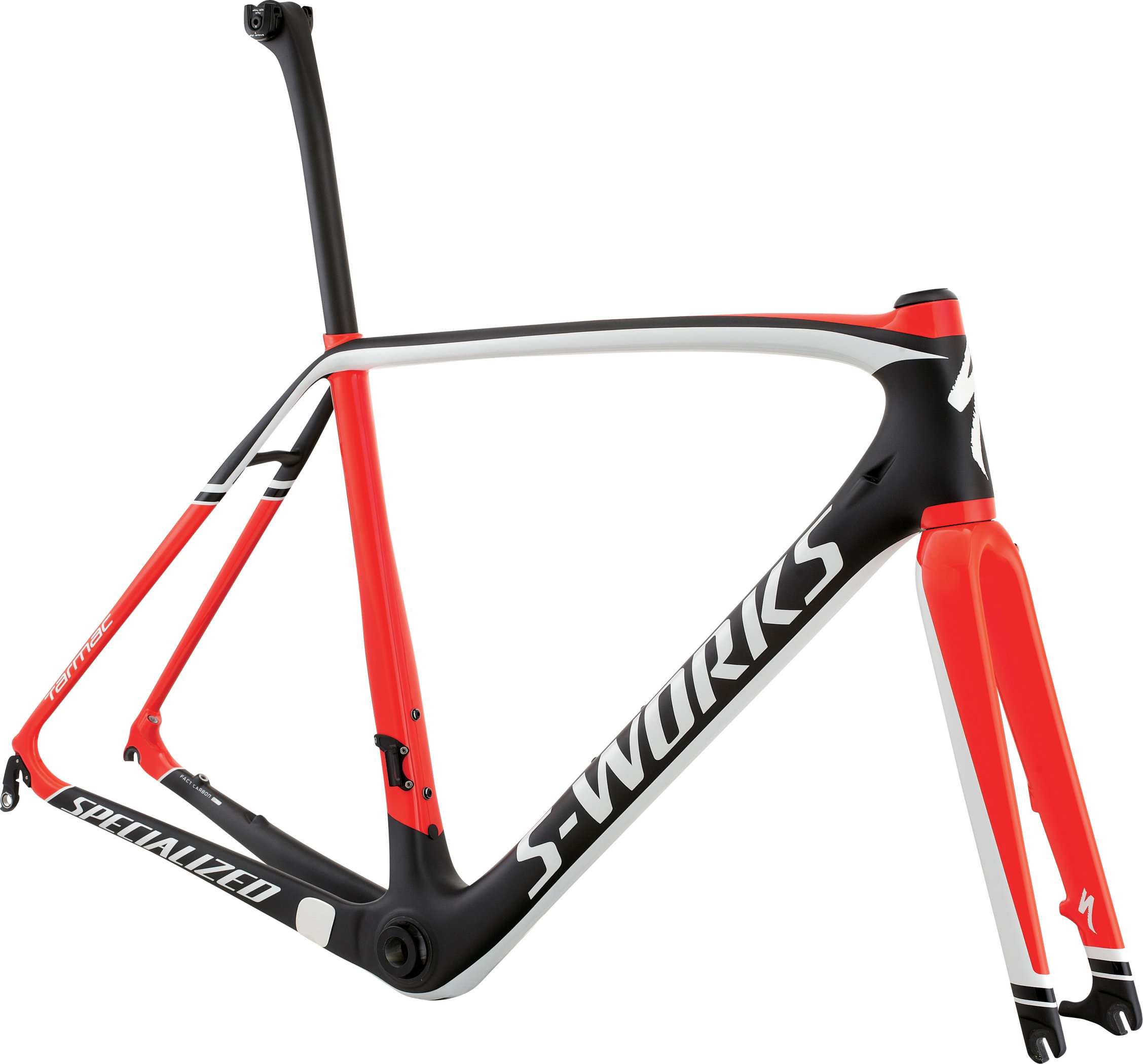 SPECIALIZED SW TARMAC DISC FRMSET CARB/RKTRED/WHT 54 - SPECIALIZED SW TARMAC DISC FRMSET CARB/RKTRED/WHT 54