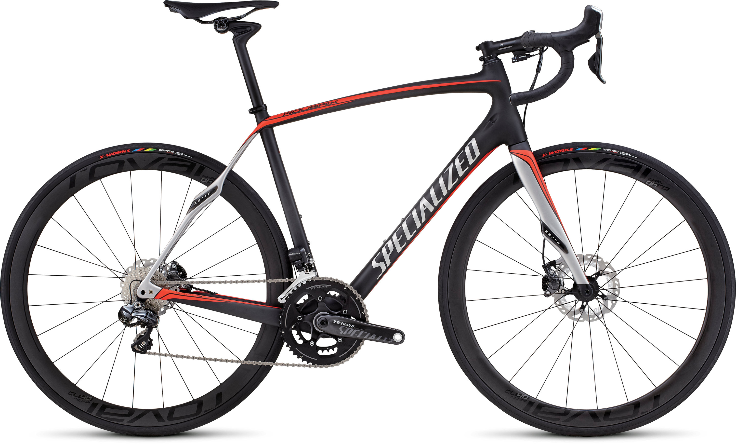 SPECIALIZED ROUBAIX SL4 PRO DISC RACE UDI2 CARB/RKTRED/SIL 49 - schneider-sports