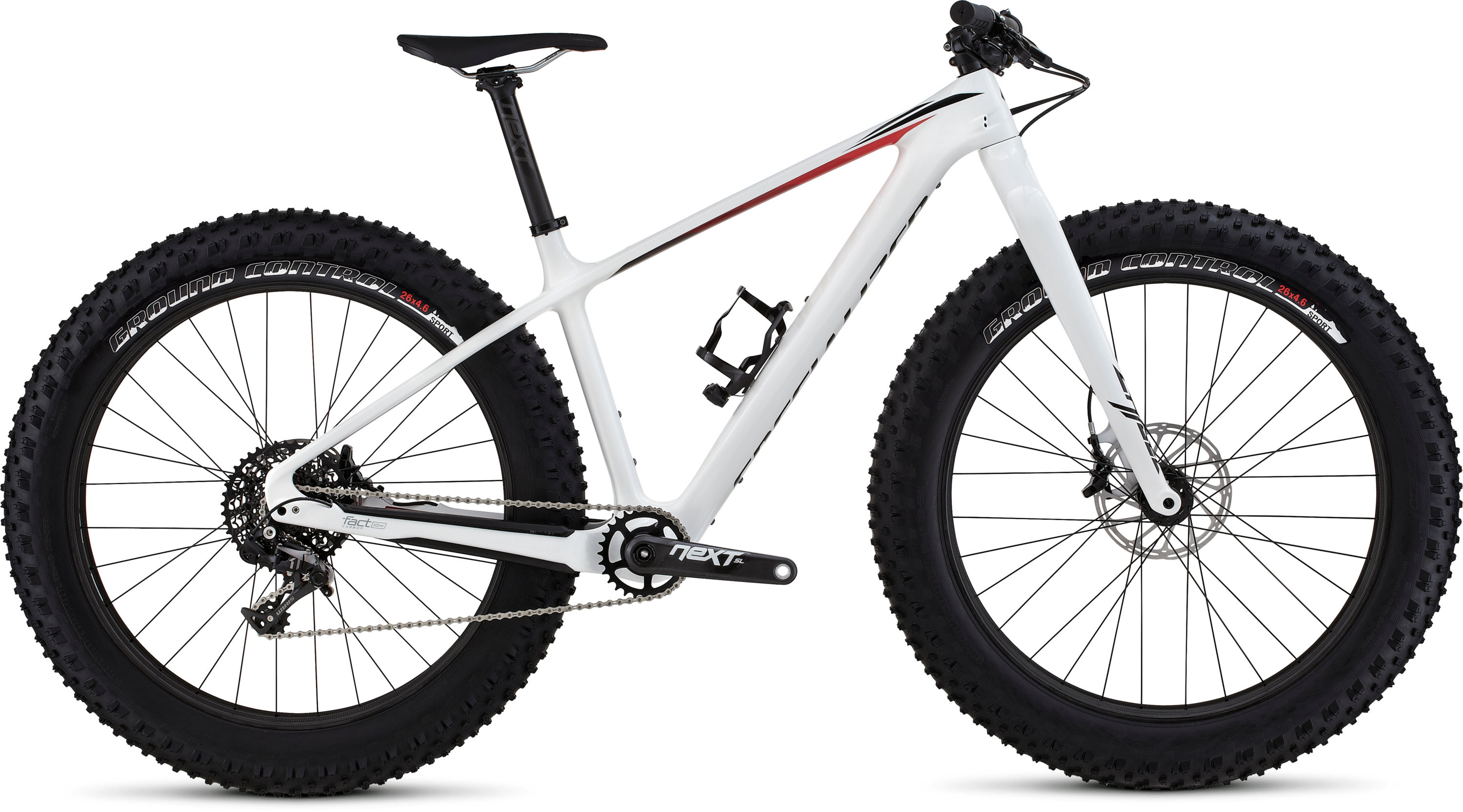 SPECIALIZED FATBOY EXPERT CARBON WHT/BLK/RED S - Bikedreams & Dustbikes