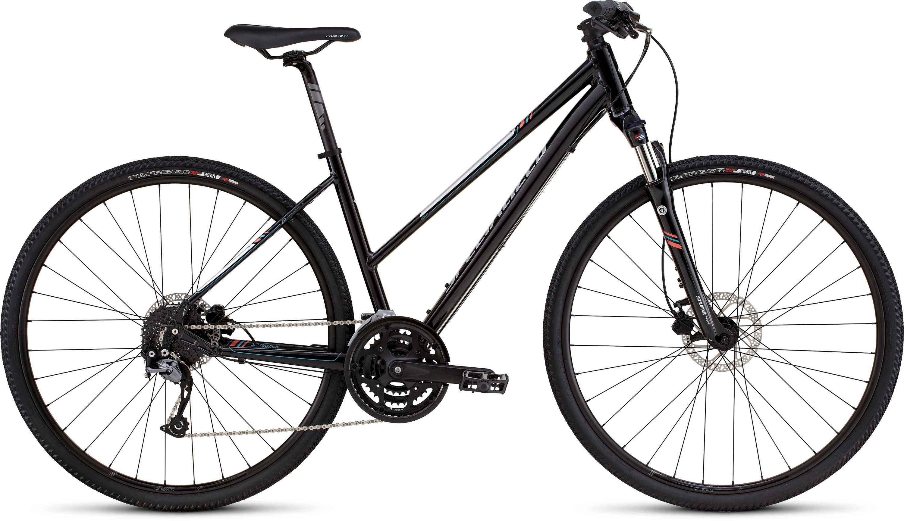 SPECIALIZED ARIEL SPORT DISC ST METBLK/SIL/PRLCRL/TUR S - Bikedreams & Dustbikes