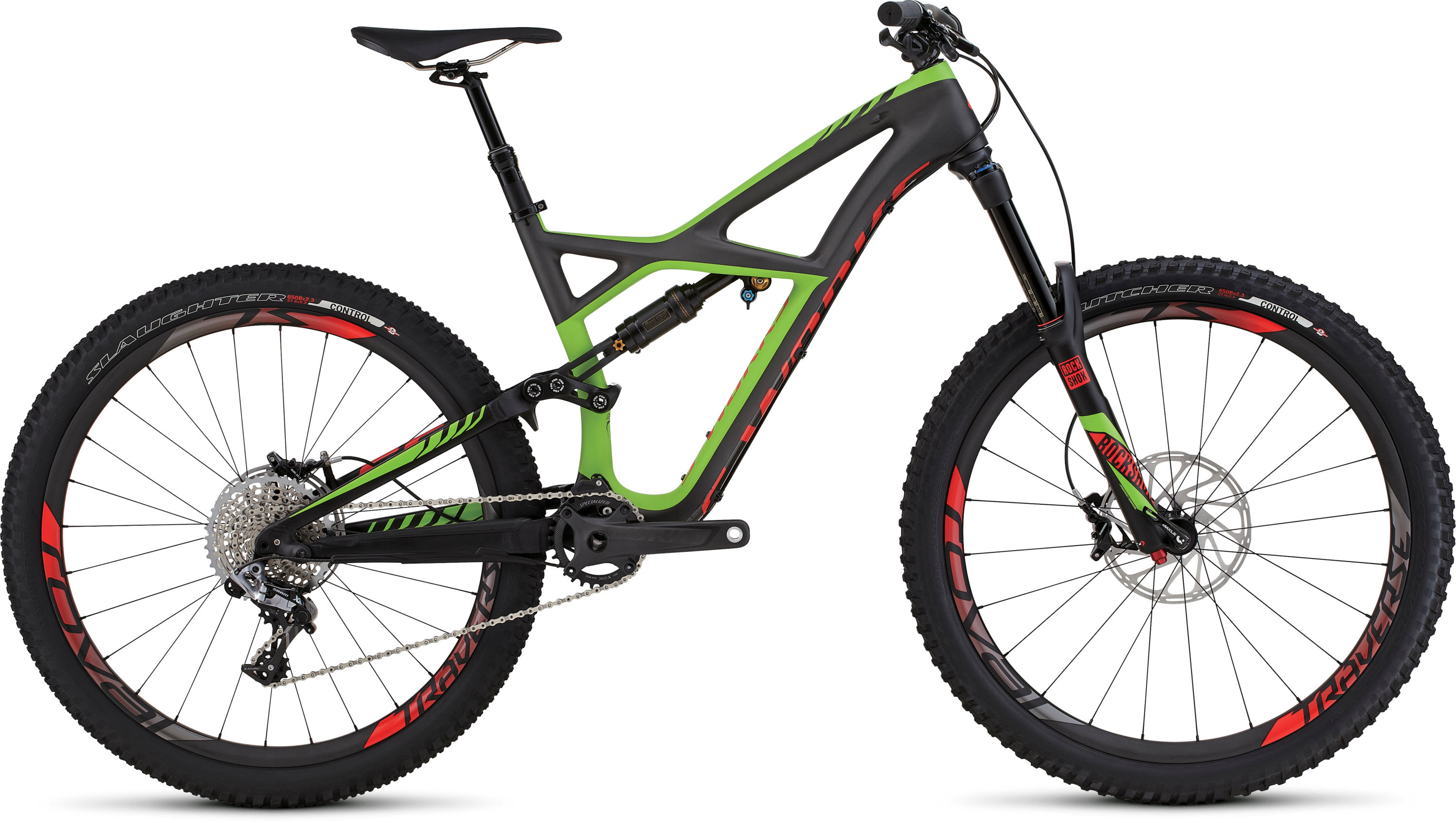 SPECIALIZED SW ENDURO FSR CARBON 650B CHARTNTCARB/MONGRN/RKTRED S - schneider-sports