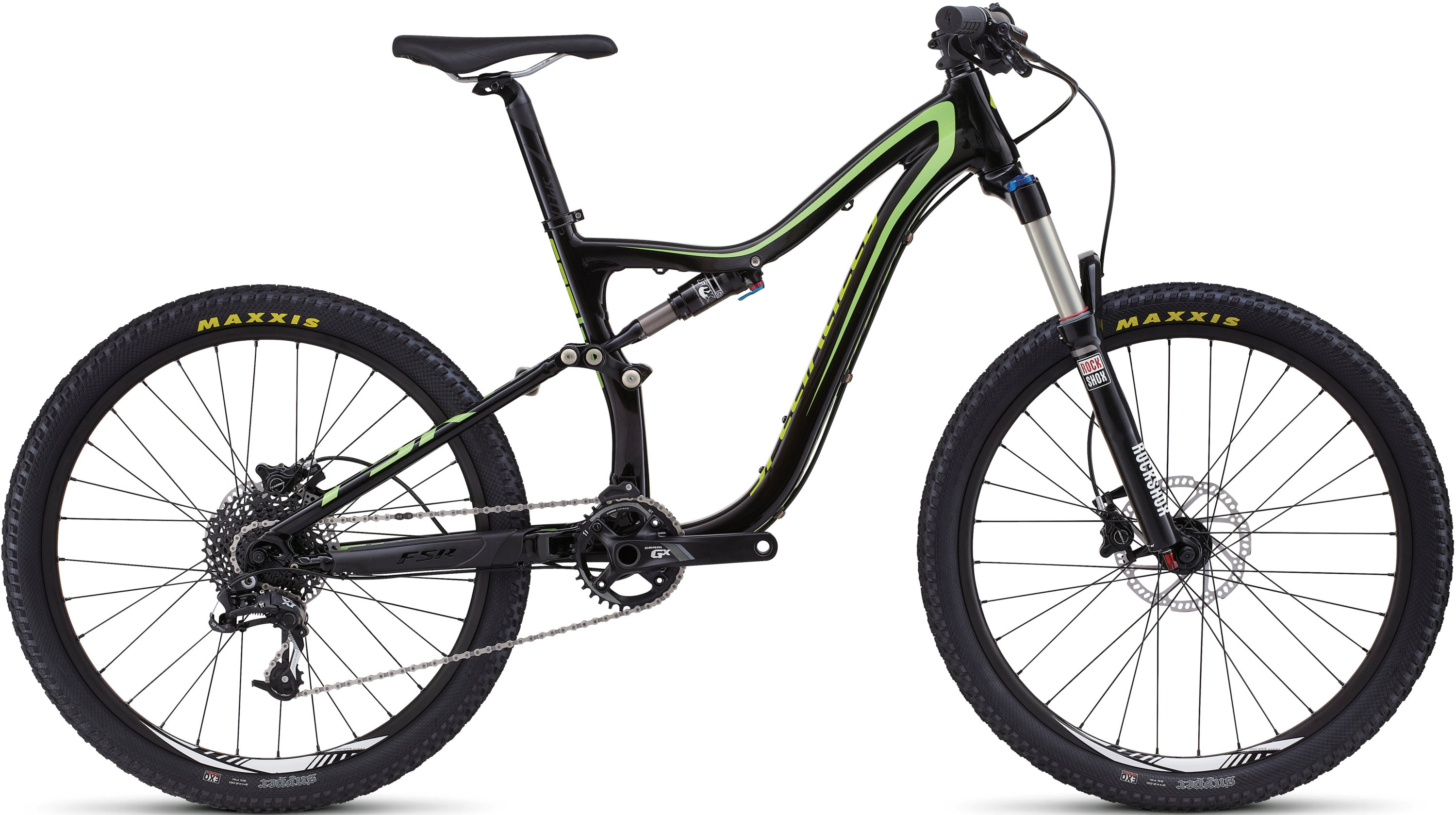 SPECIALIZED CAMBER FSR GROM BLK/MONGRN/HYP S - Bikedreams & Dustbikes
