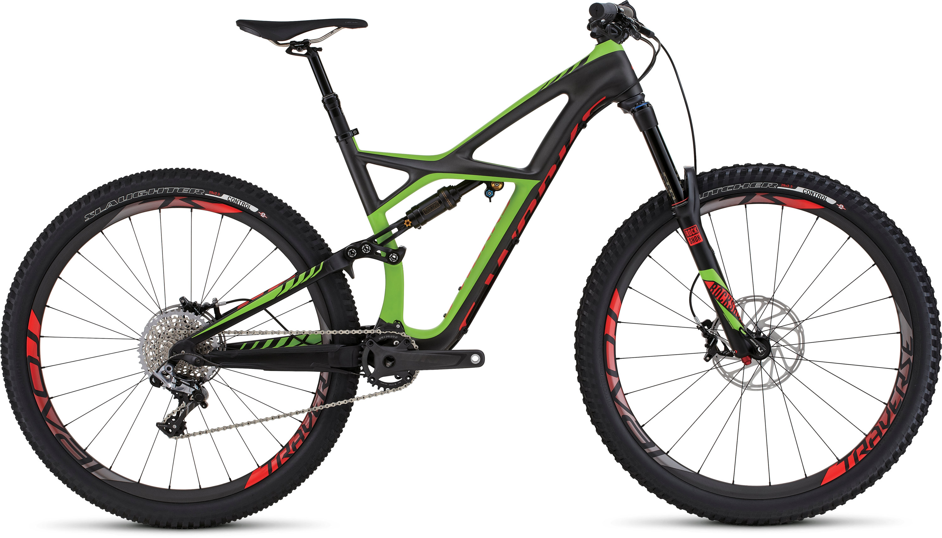 SPECIALIZED SW ENDURO FSR CARBON 29 CHARTNTCARB/MONGRN/RKTRED M - schneider-sports
