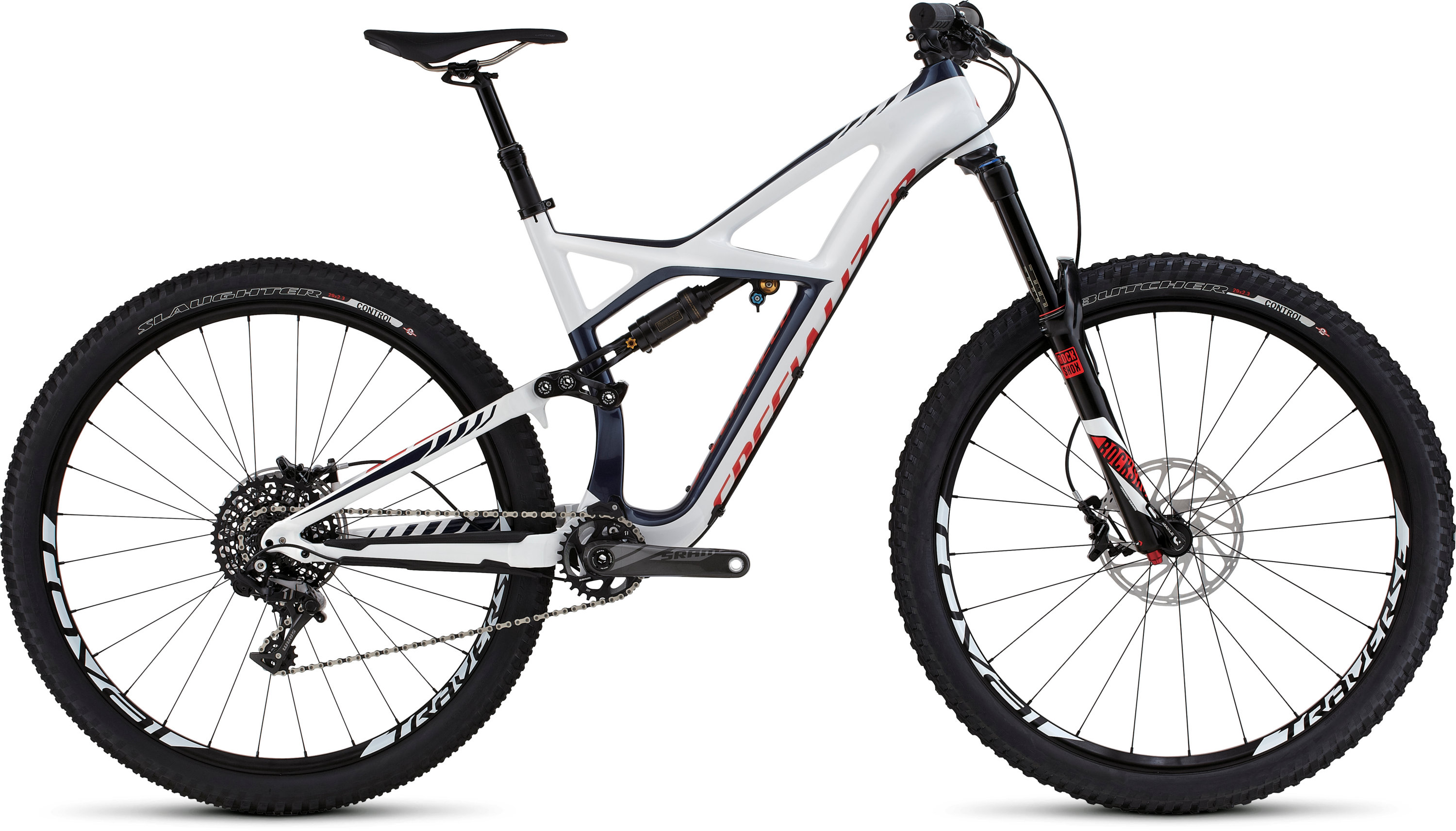 SPECIALIZED ENDURO FSR EXPERT CARBON 29 NVY/WHT/RKTRED M - Pulsschlag Bike+Sport