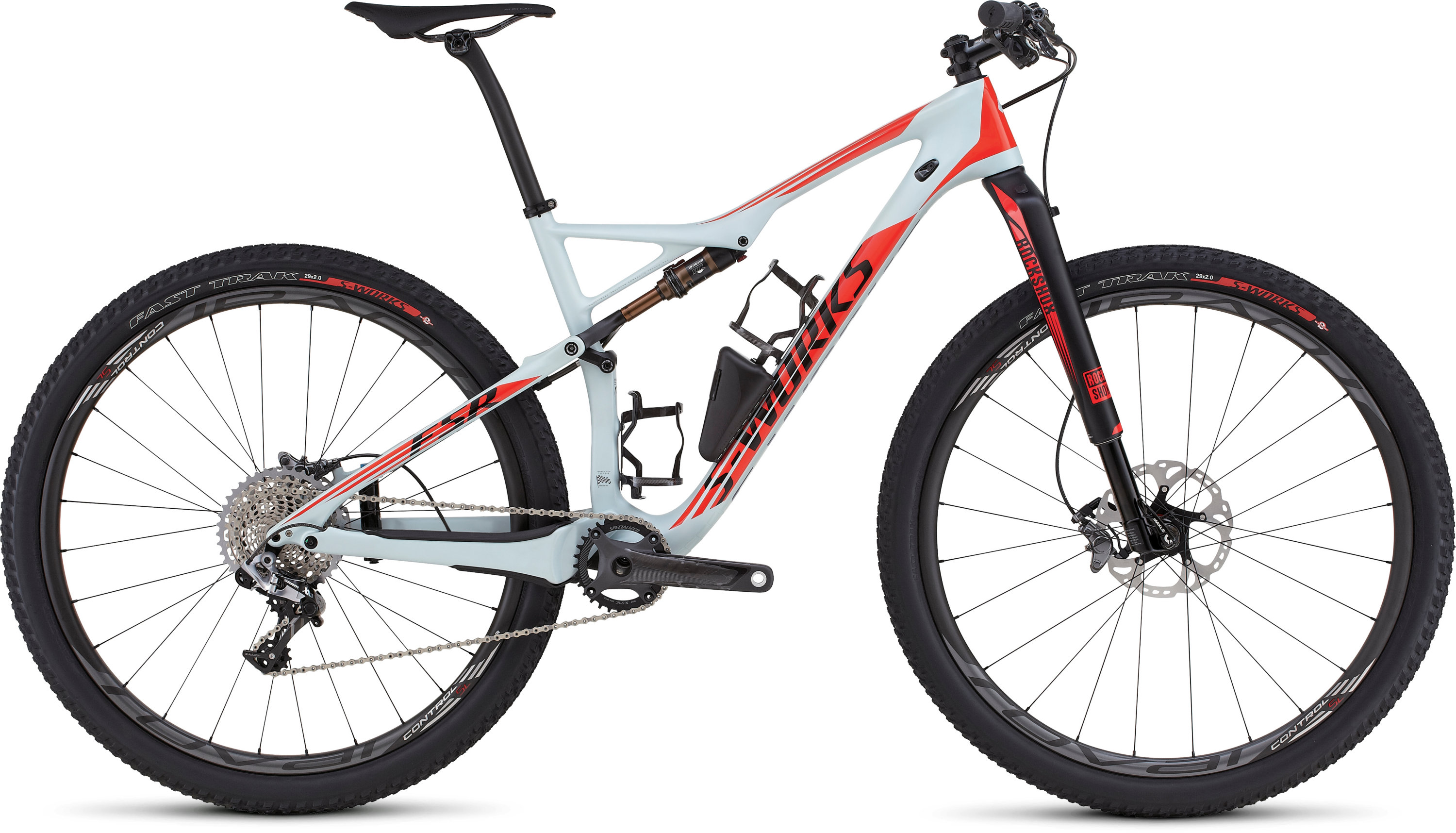 SPECIALIZED SW EPIC FSR CARBON WC 29 BBYBLU/RKTRED/BLK S - Bikedreams & Dustbikes