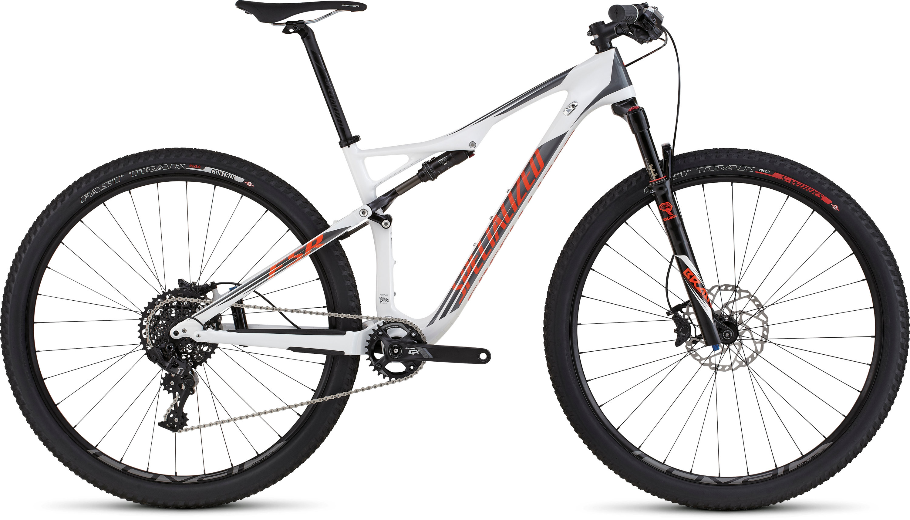 SPECIALIZED EPIC FSR ELITE CARBON WC 29 WHT/CHAR/MXORG S - Bikedreams & Dustbikes