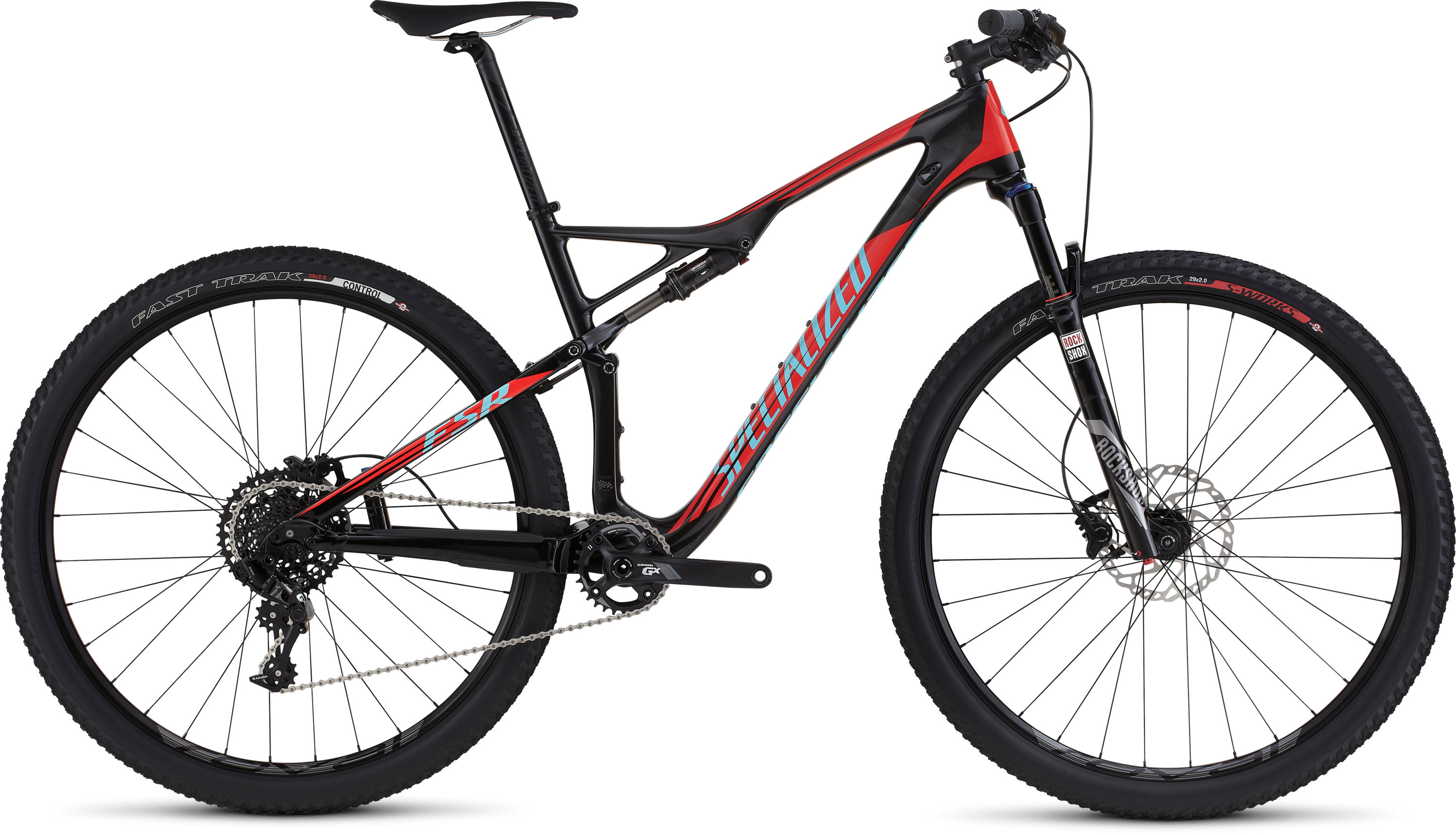 SPECIALIZED EPIC FSR COMP CARBON WC 29 CARB/RKTRED/LTBLU S - SPECIALIZED EPIC FSR COMP CARBON WC 29 CARB/RKTRED/LTBLU S