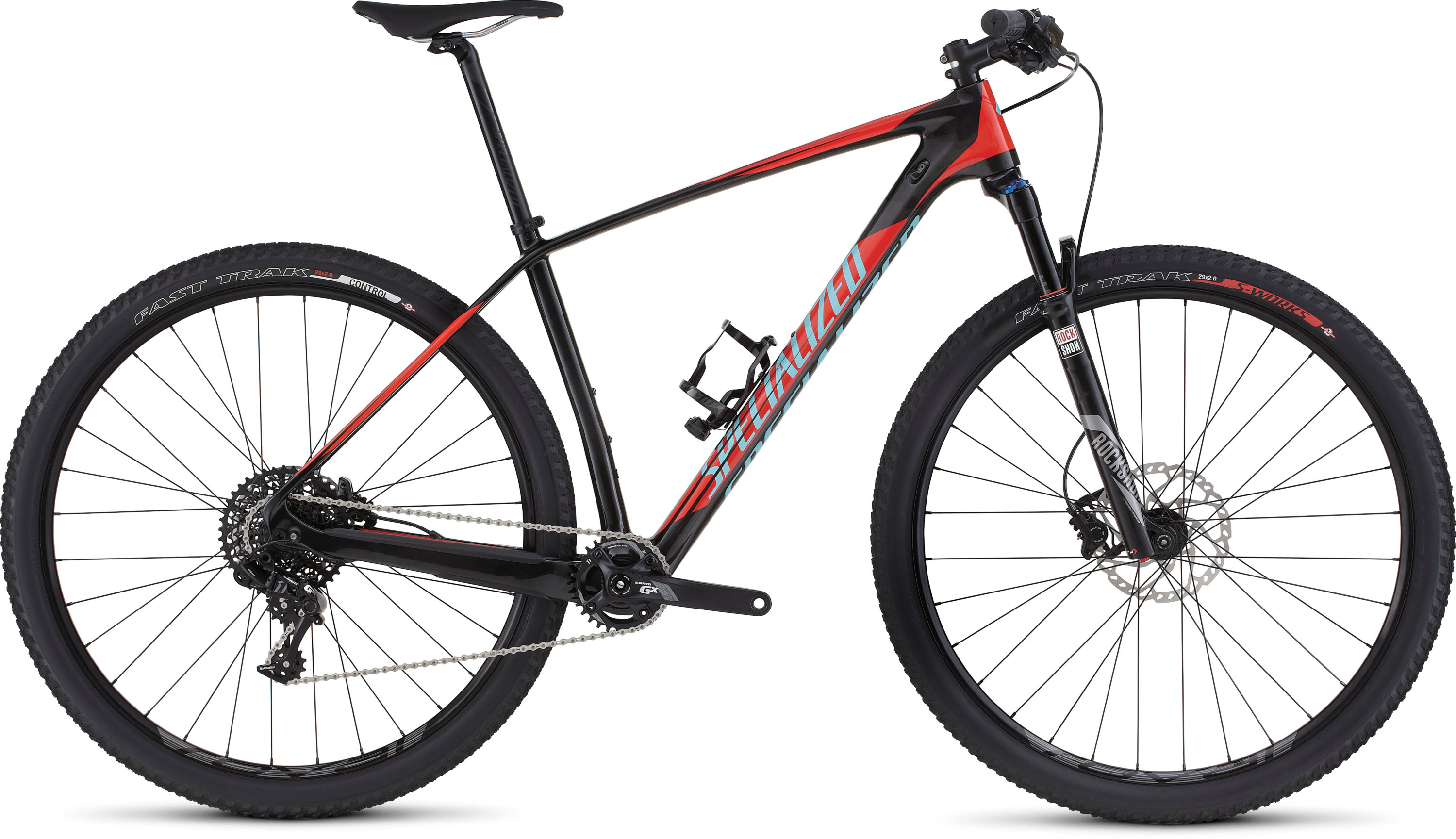 SPECIALIZED SJ HT COMP CARBON WC 29 CARB/RKTRED/LTBLU S - Bikedreams & Dustbikes