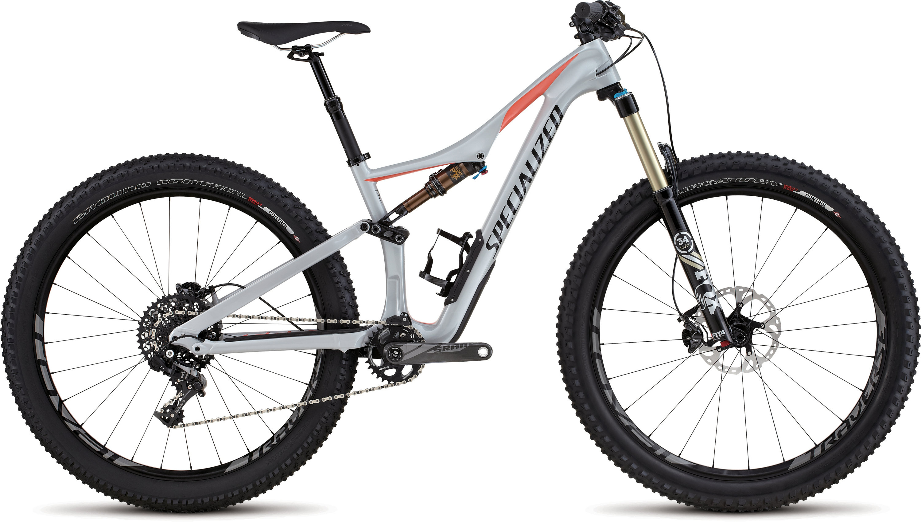 Specialized Rhyme FSR Expert Carbon 6Fattie Gloss Filthy White/Coral/Black S - Alpha Bikes