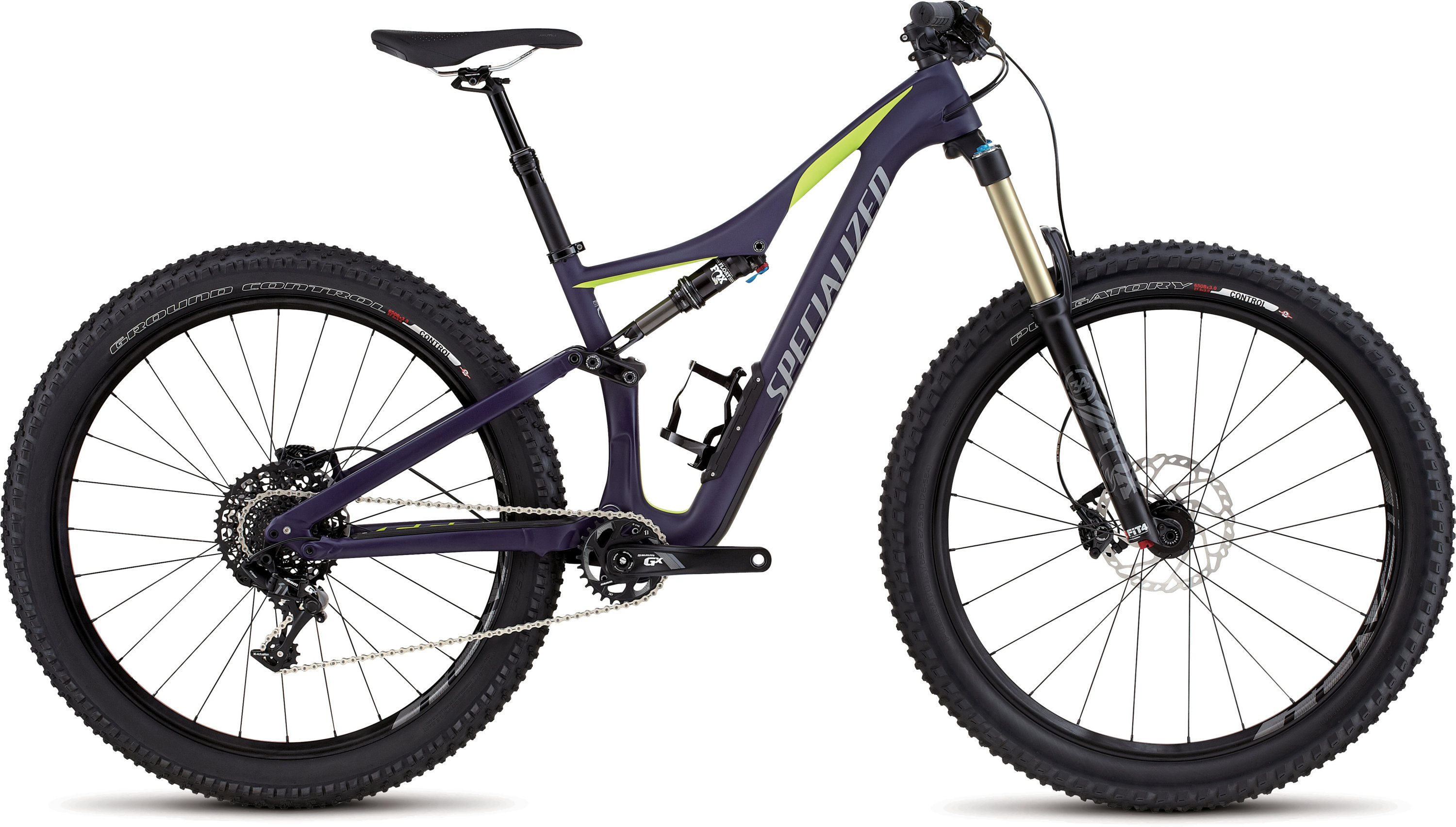 Specialized Rhyme FSR Comp Carbon 6Fattie Satin Deep Indigo/Hyper Green/Cool Grey S - Alpha Bikes