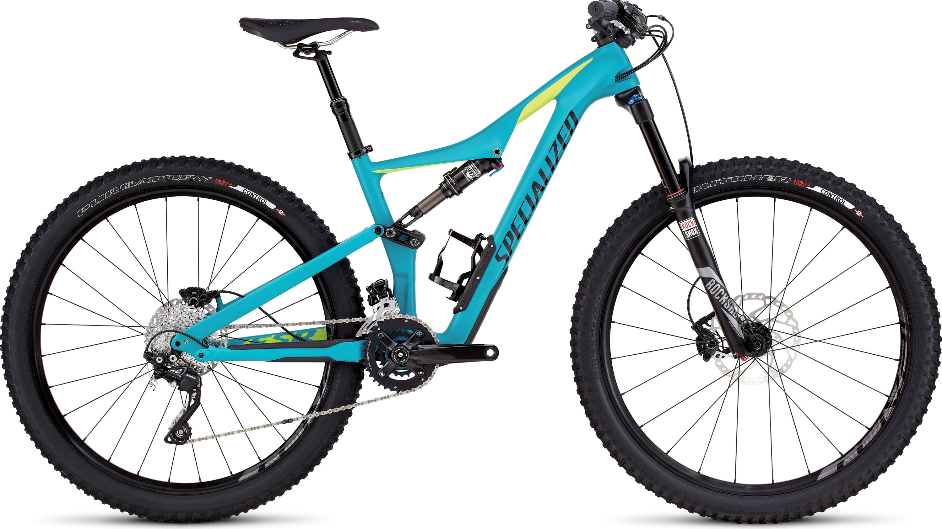Specialized Rhyme FSR Comp Carbon 650B Satin Turquoise/Hyper Green/Black S - Alpha Bikes