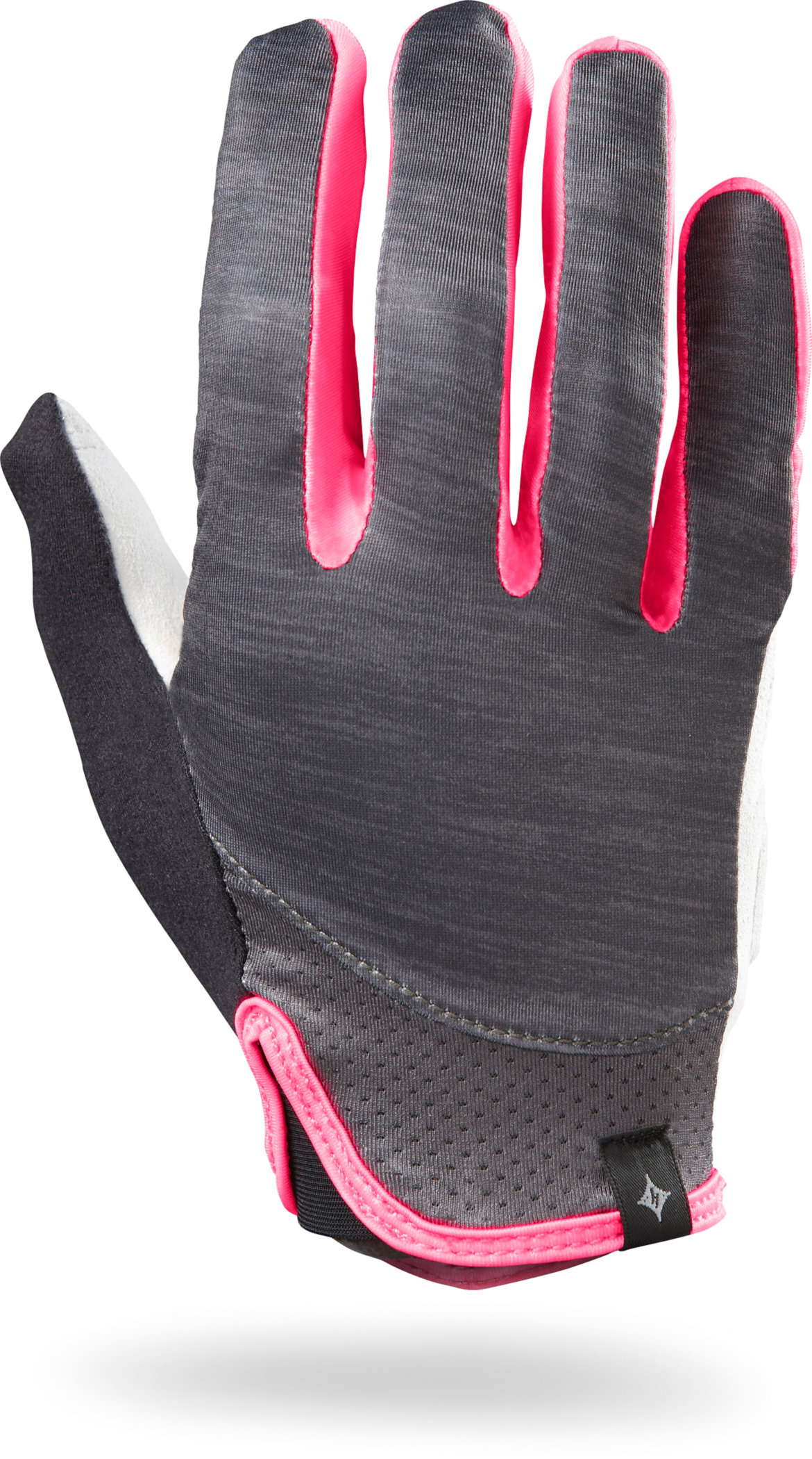Specialized Women´s Trident Long Finger Carbon Heather/Neon Pink S - Alpha Bikes