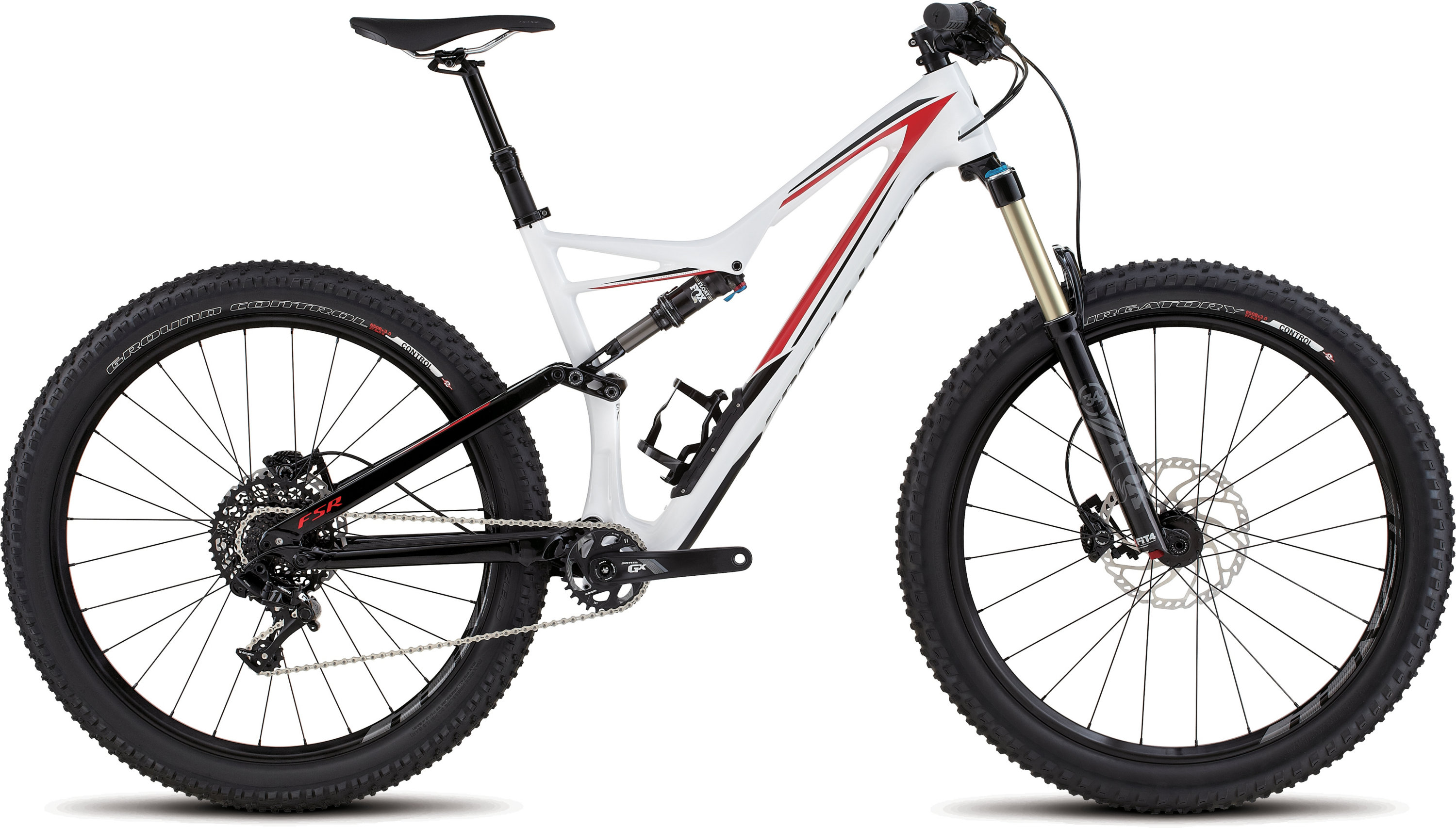 SPECIALIZED SJ FSR COMP CARBON 6FATTIE WHT/BLK/RED S - schneider-sports