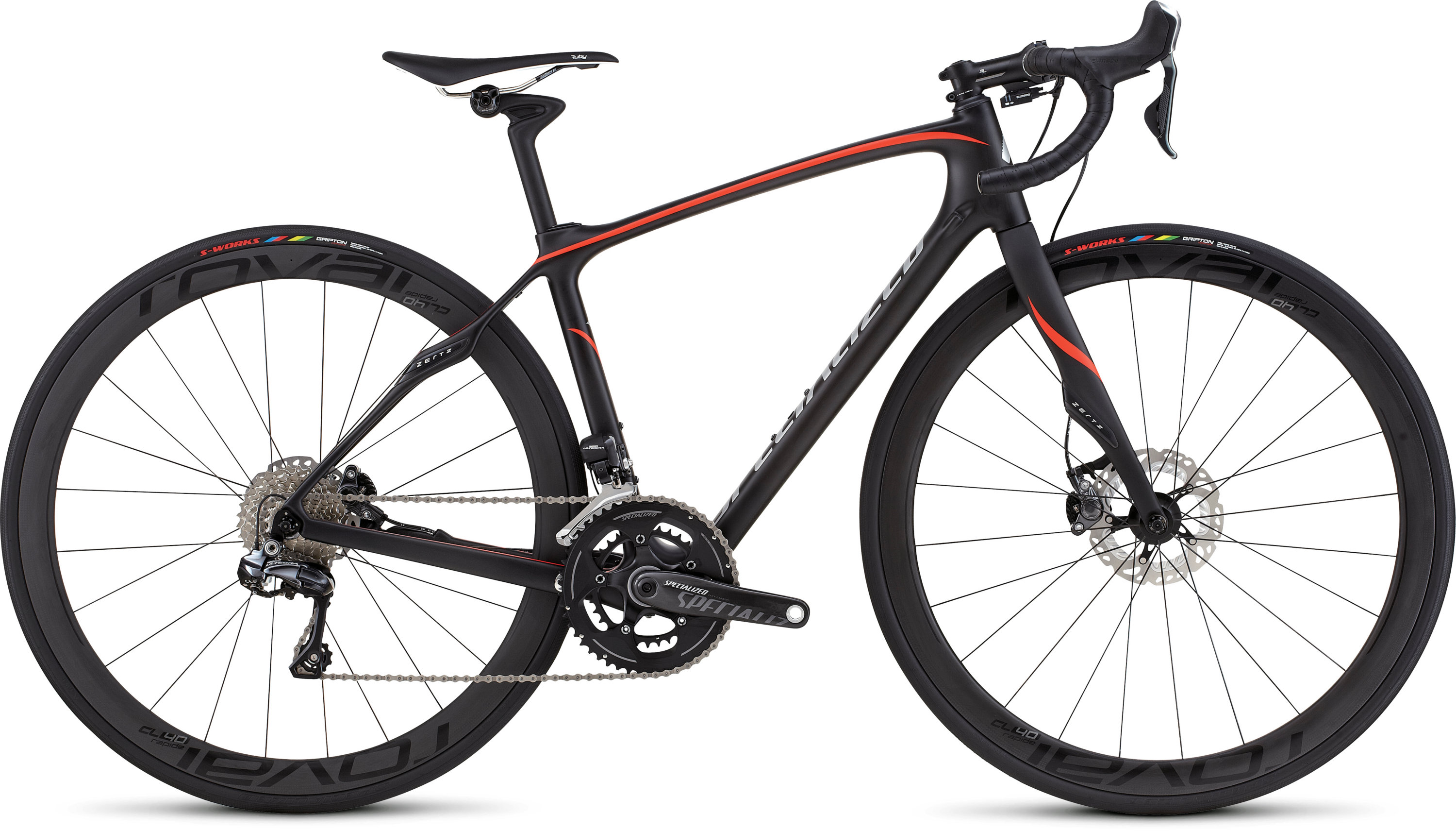 SPECIALIZED RUBY PRO DISC UDI2 TARBLK/NRDCRED/SIL 48 - SPECIALIZED RUBY PRO DISC UDI2 TARBLK/NRDCRED/SIL 48