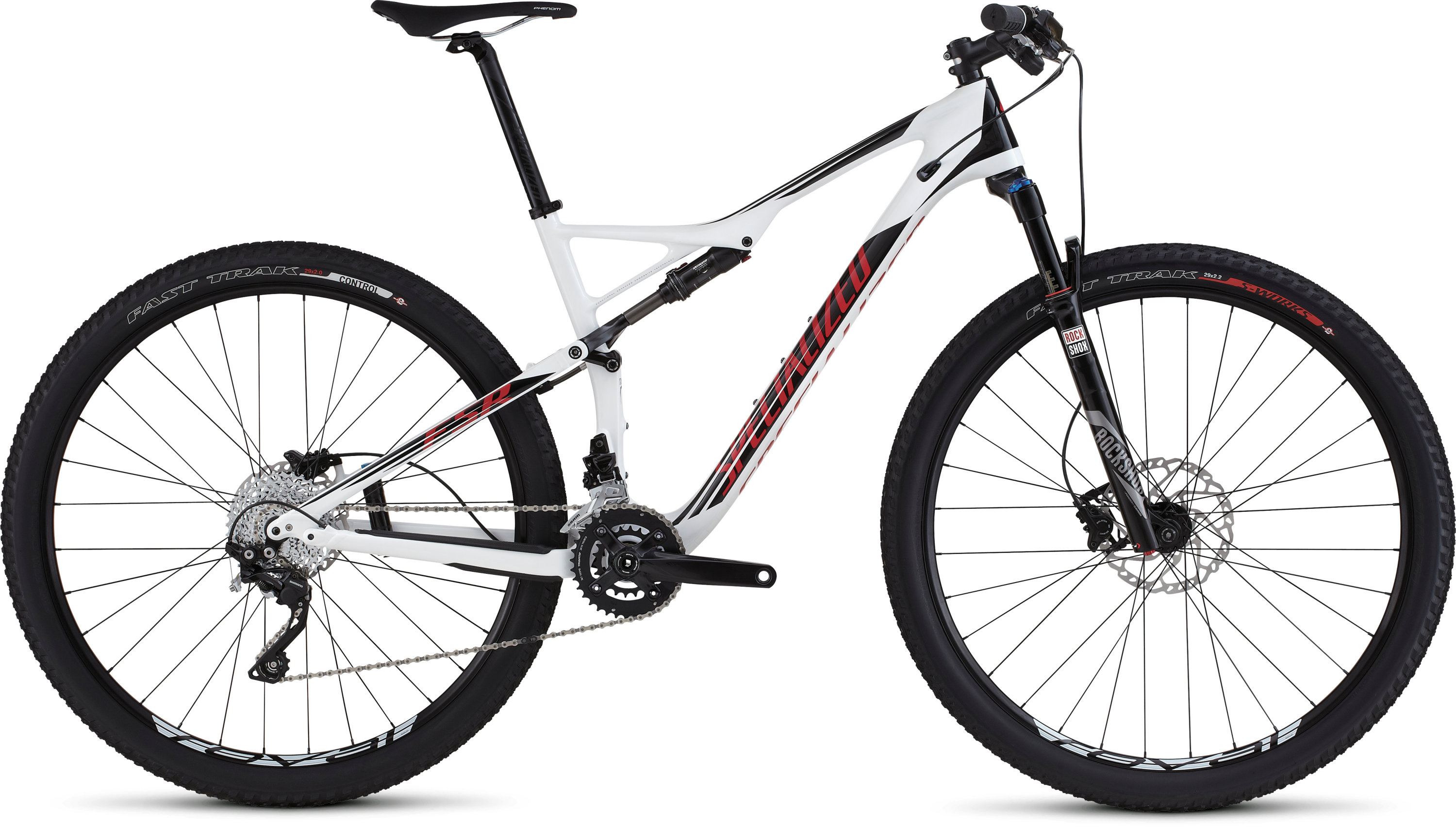 SPECIALIZED EPIC FSR COMP CARBON 29 WHT/BLK/RED S - SPECIALIZED EPIC FSR COMP CARBON 29 WHT/BLK/RED S