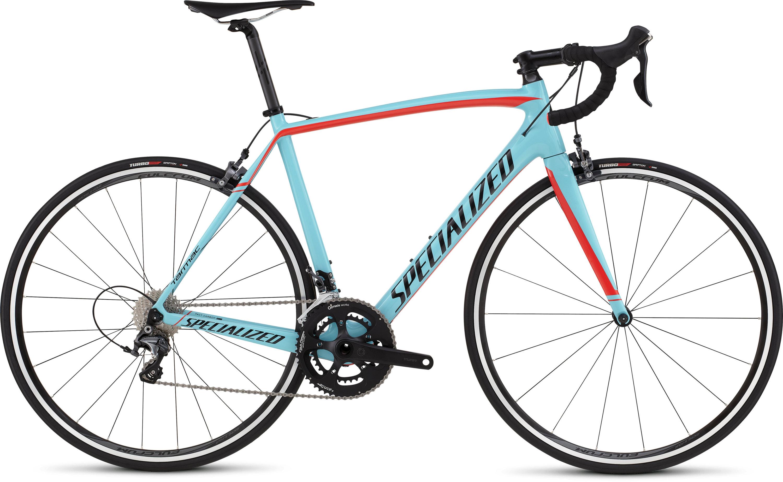 SPECIALIZED TARMAC COMP CEN LTBLU/RKTRED/TARBLK 58 - Bike Maniac