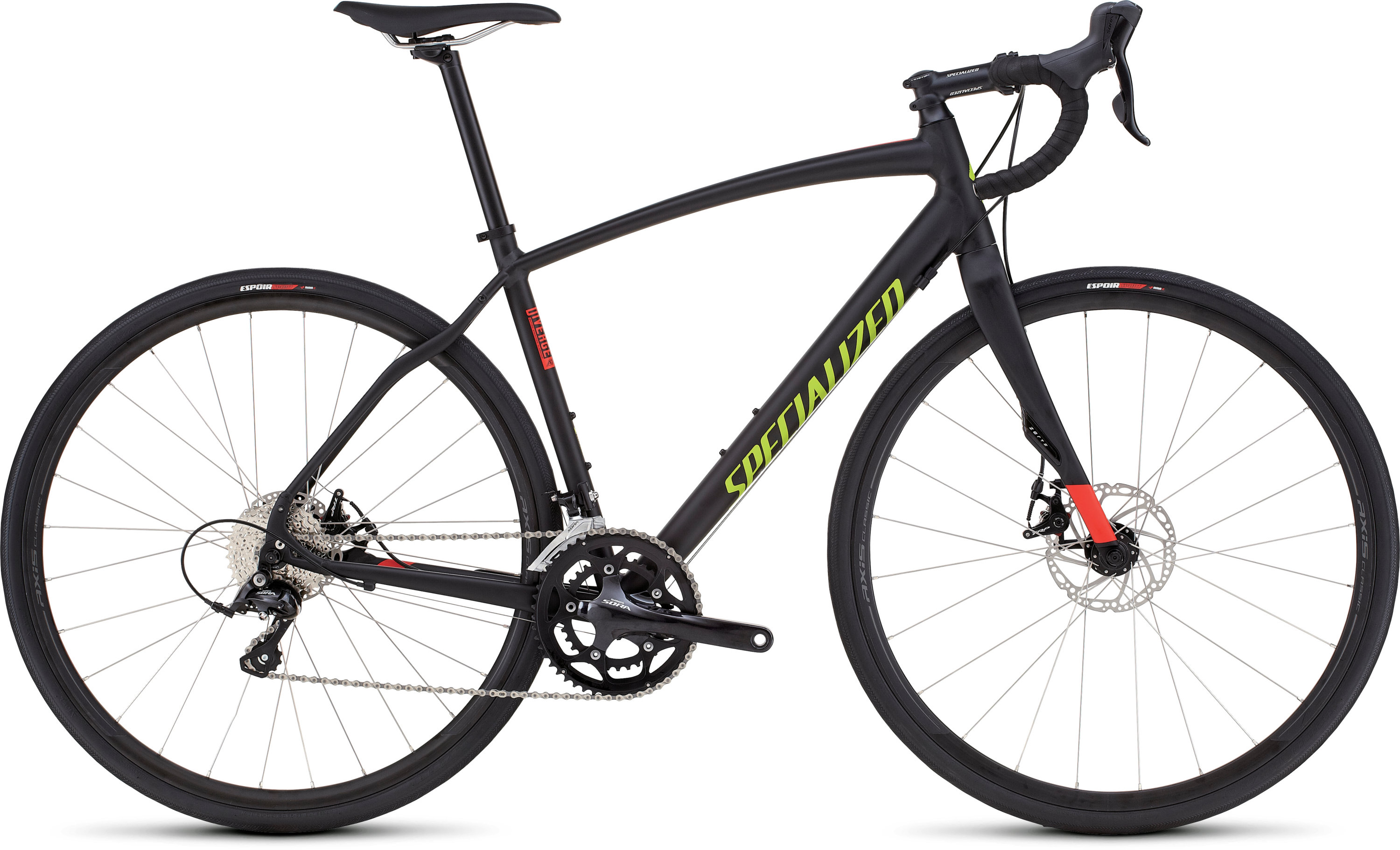 SPECIALIZED DIVERGE SPORT A1 CEN BLK/RKTRED/HYP 54 - SPECIALIZED DIVERGE SPORT A1 CEN BLK/RKTRED/HYP 54