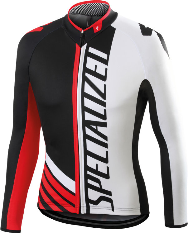 Specialized Element Pro Racing jersey LS BLACK/WHITE/RED M - Alpha Bikes