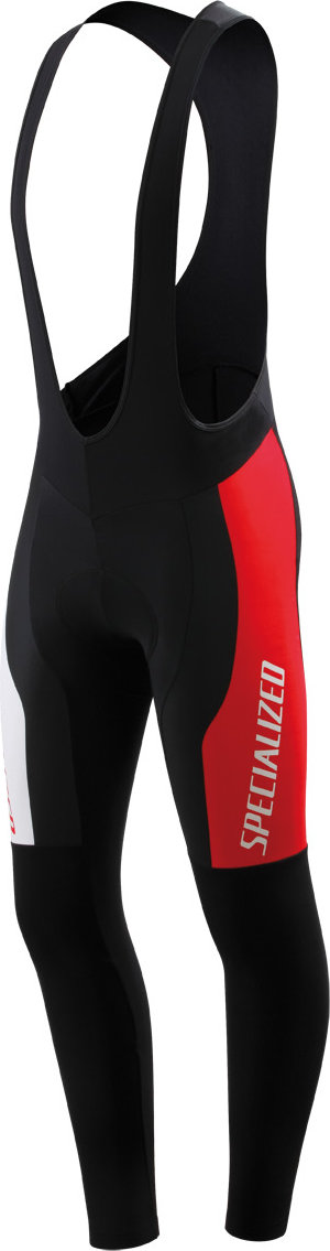 SPECIALIZED THERMINAL PRO RACING CYCLING BIB TIGHT BLK/WHT/RED XS - Alpha Bikes
