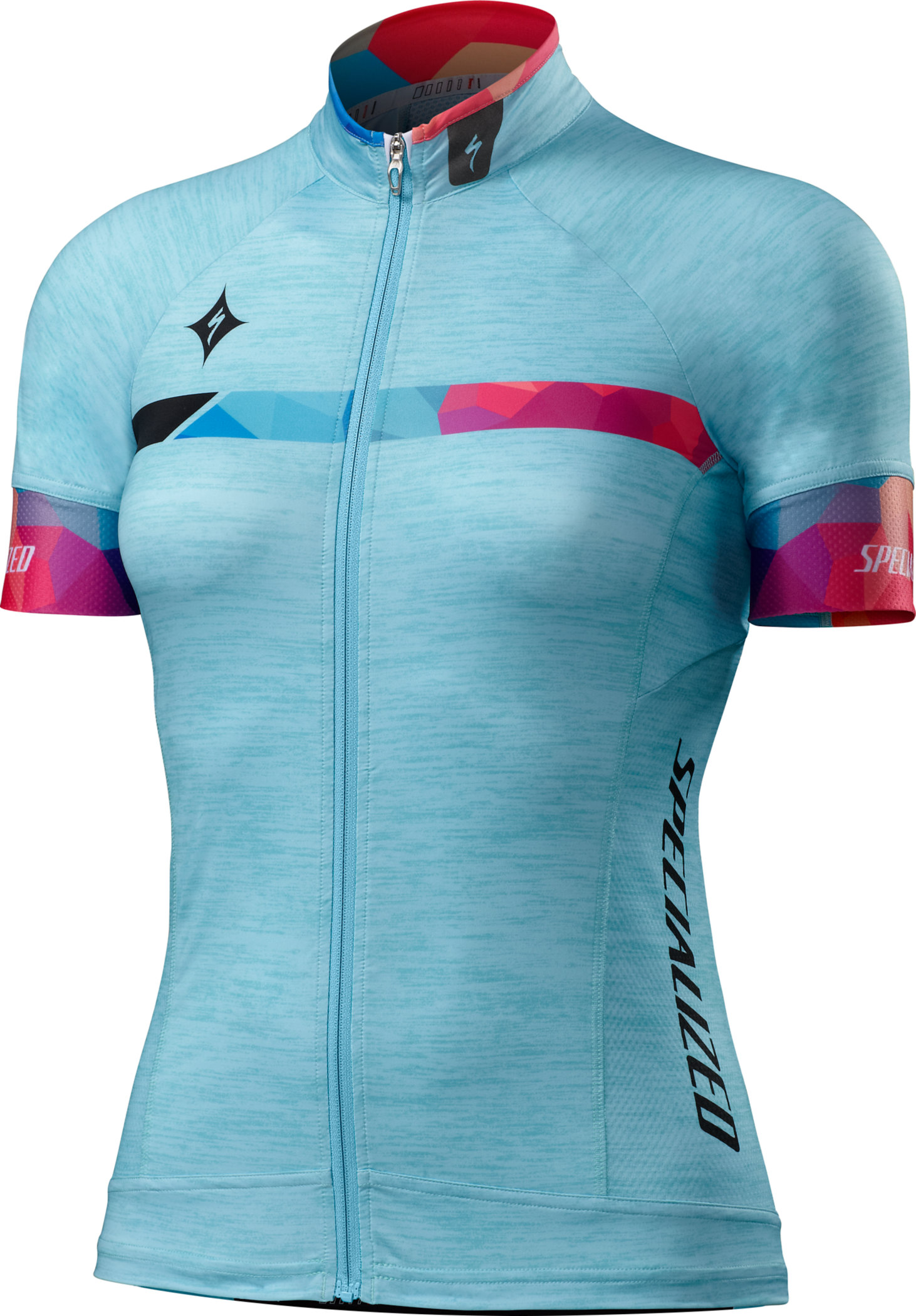 Specialized WOMEN´S SL PRO JERSEY  Turquoise/Geo Fade Large - Alpha Bikes